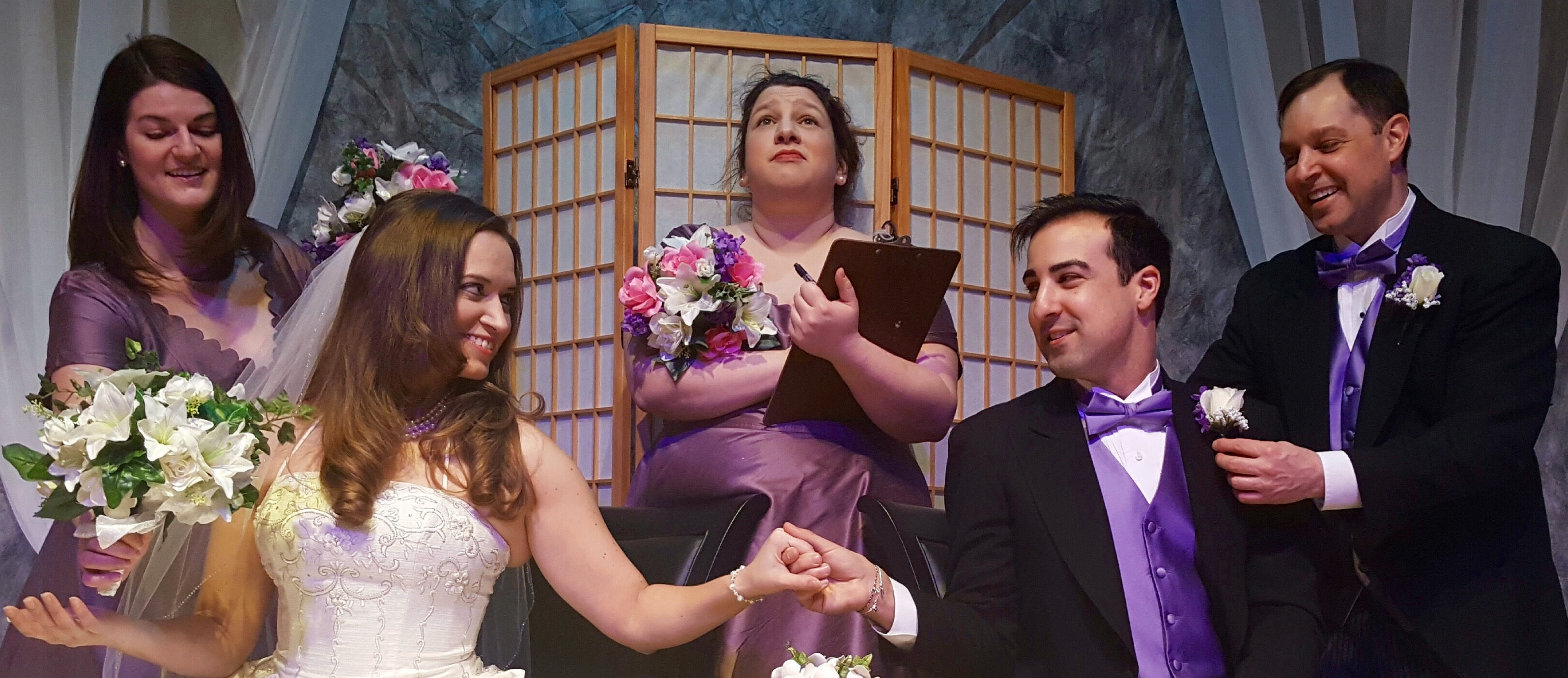 Rebecca Runge, Heather Reed, Sara Kovacsi, Adam Hayes and Matthew Mooney appear in O'Connell & Company's production of 'It Shoulda Been You.'