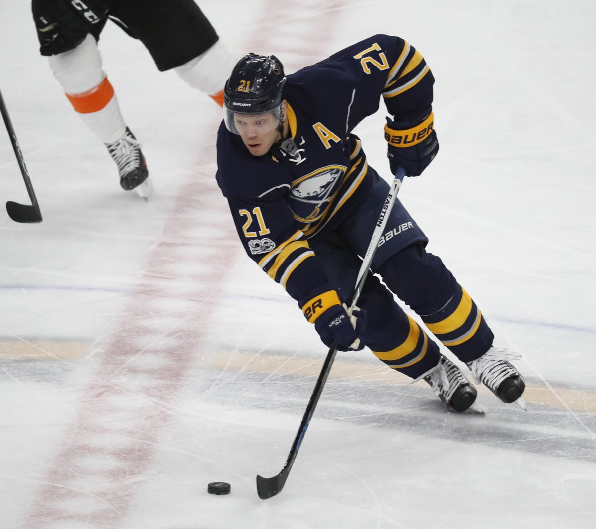 Kyle Okposo leads the Sabres with 12 goals. (Harry Scull Jr./Buffalo News)
