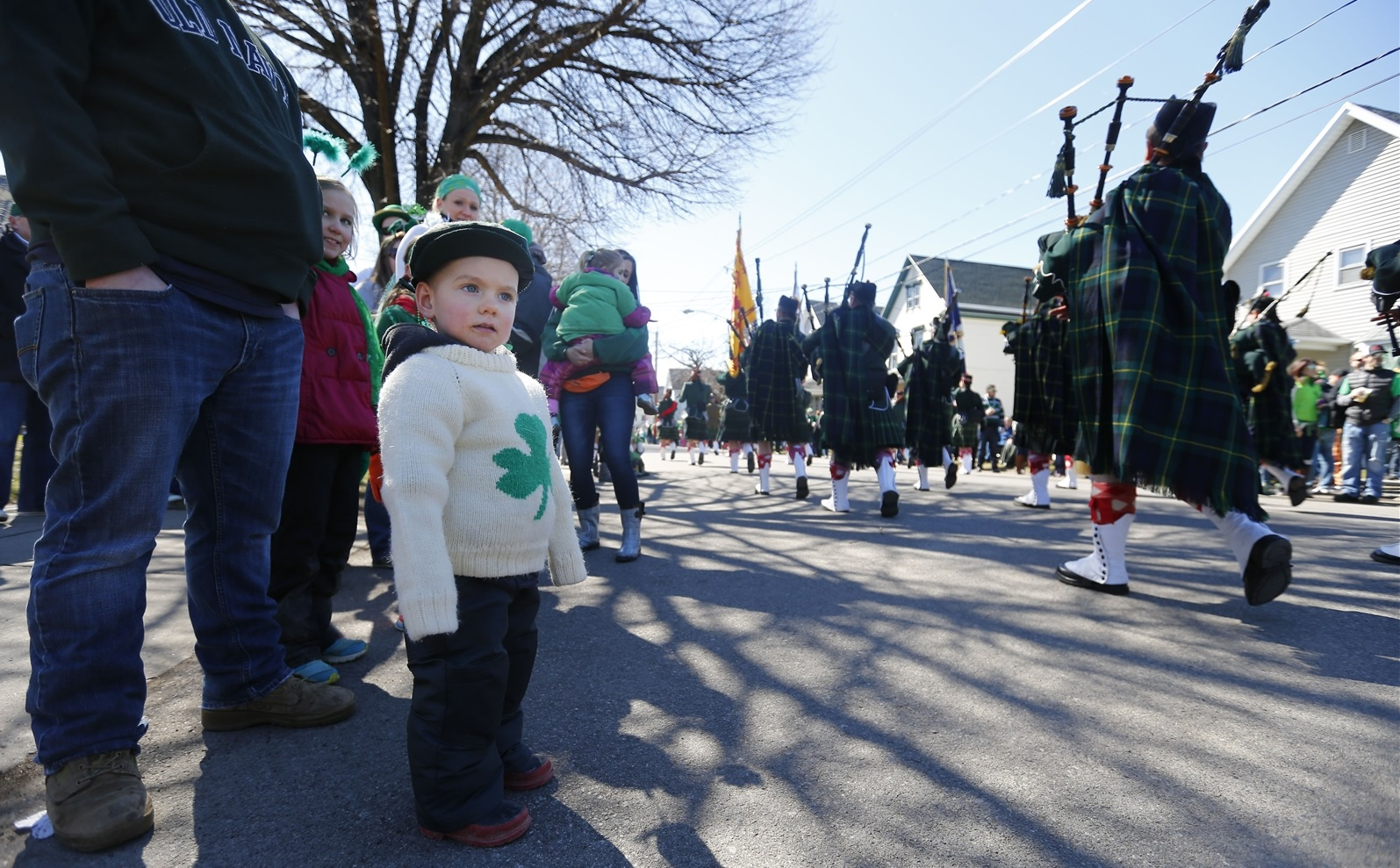 St. Patrick's Day Parade in the Old First Ward welcomes celebrants of all ages. (Mark Mulville/Buffalo News file photo)