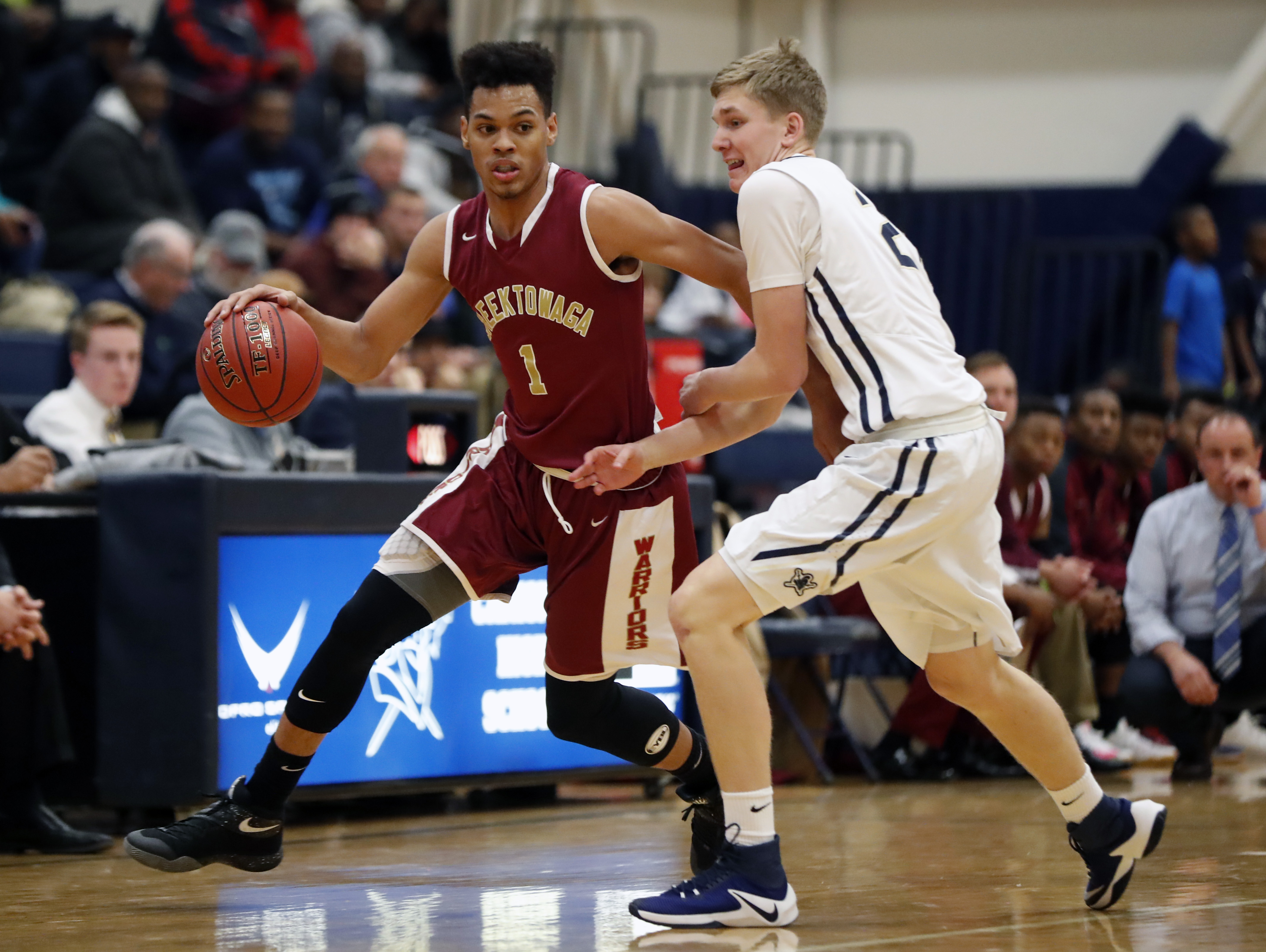 Cheektowaga's Dominick Welch resumes his pursuit of the Western New York career scoring record when the Warriors host Lewiston-Porter on Friday night. (Harry Scull Jr./Buffalo News)