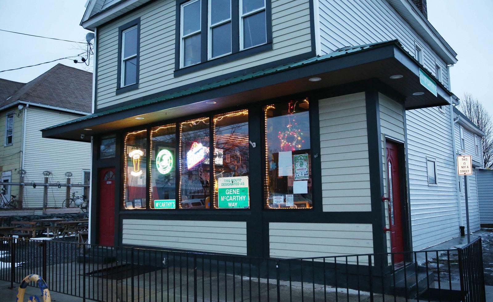 Gene McCarthy's in the Old First Ward hosts an open-mic night. (Sharon Cantillon/Buffalo News)