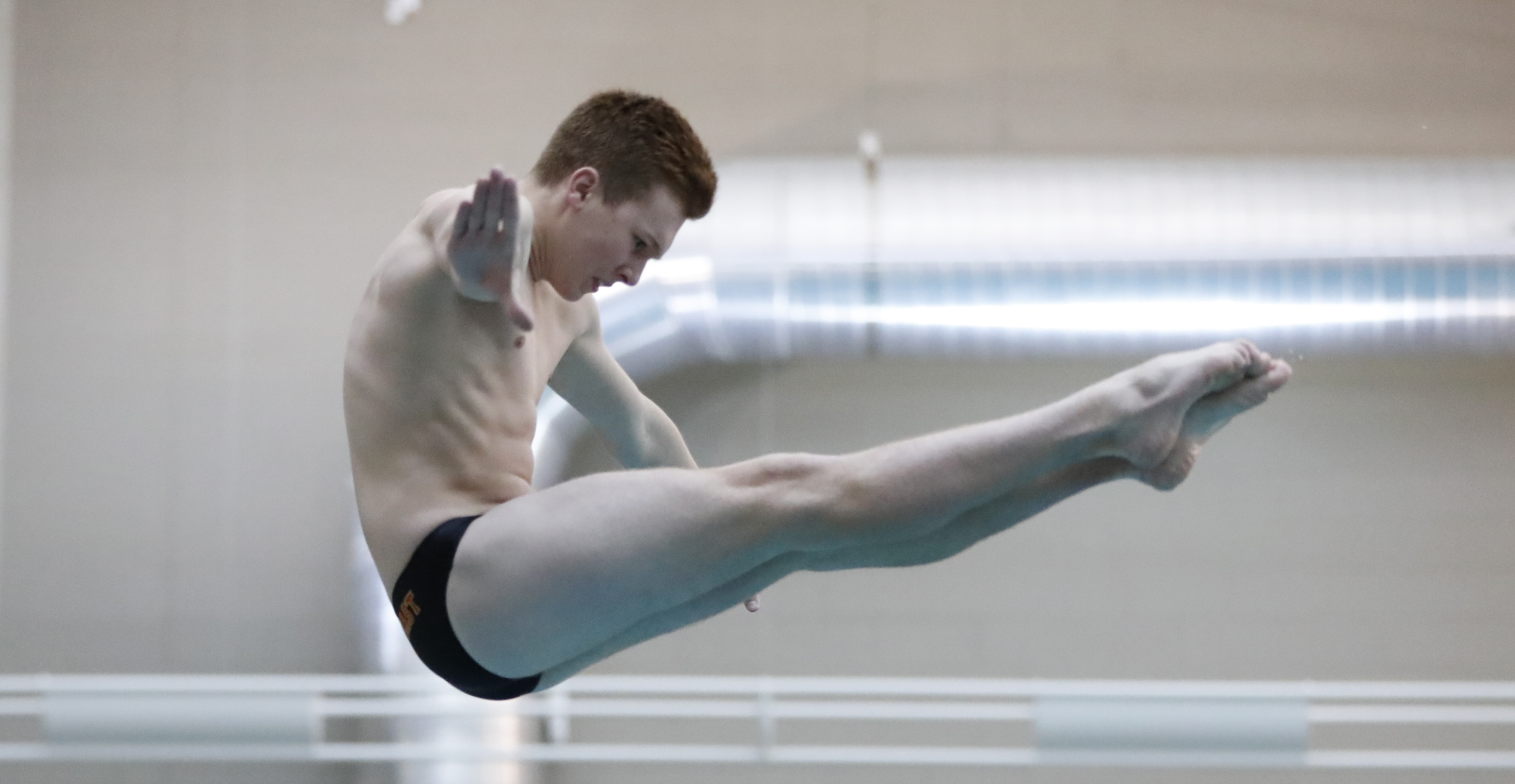 Williamsville East's Tim Finley captured the Class A championship during the Section VI Class Meet Diving championships at Maryvale High School on Friday. (Harry Scull Jr./Buffalo News)