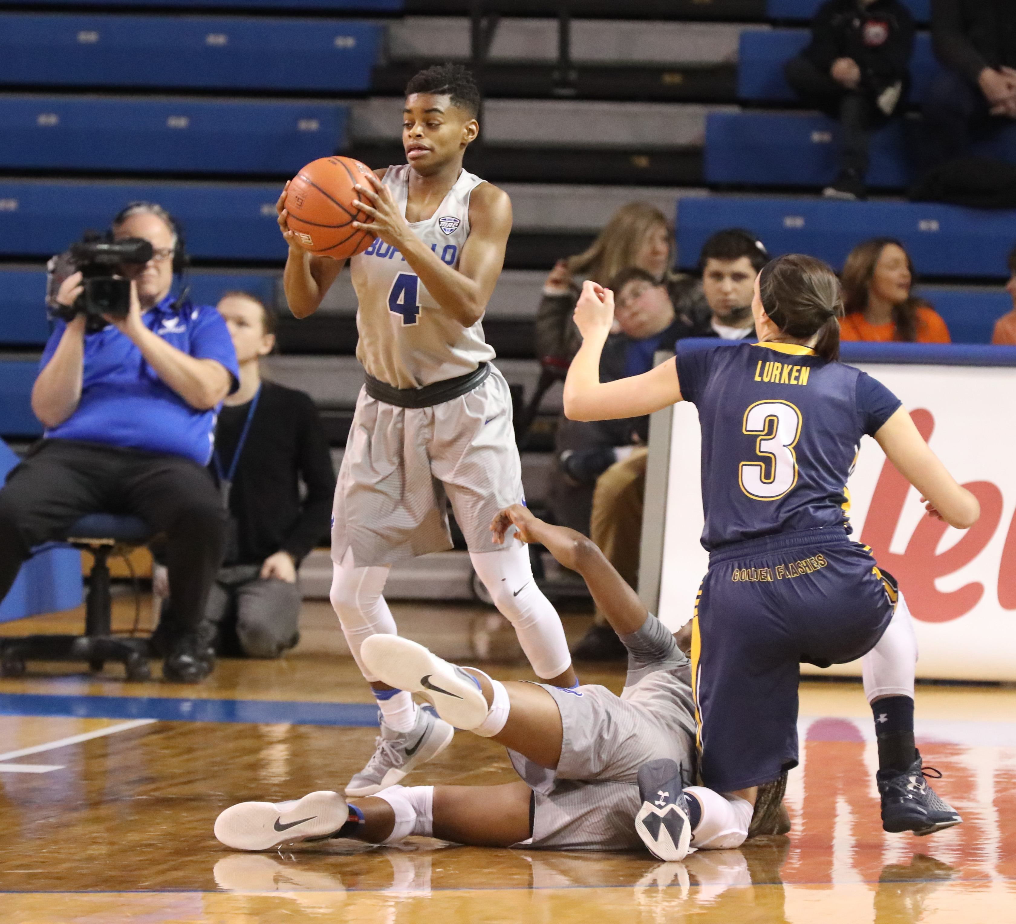 UB's JoAnna Smith had 31 points, equaling her career high, in Saturday's win over Kent State. (James P. McCoy/Buffalo News)