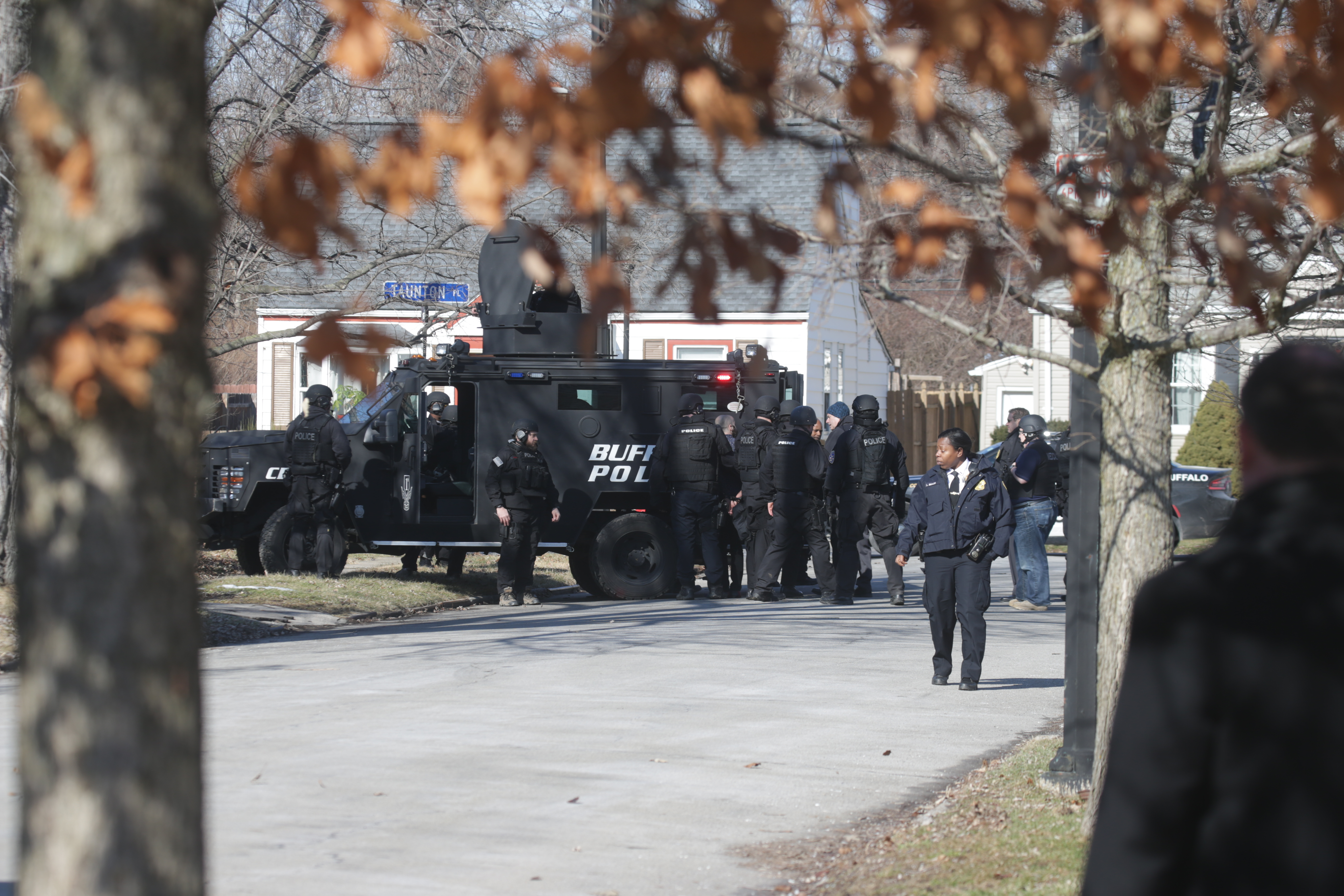 Buffalo Police SWAT Team on location take a man into custody after a family altercation between father and son on Standish Road near corner of Taunton Place, in Buffalo, N.Y. on  Tuesday,  Feb. 14, 2017.  (John Hickey/Buffalo News)