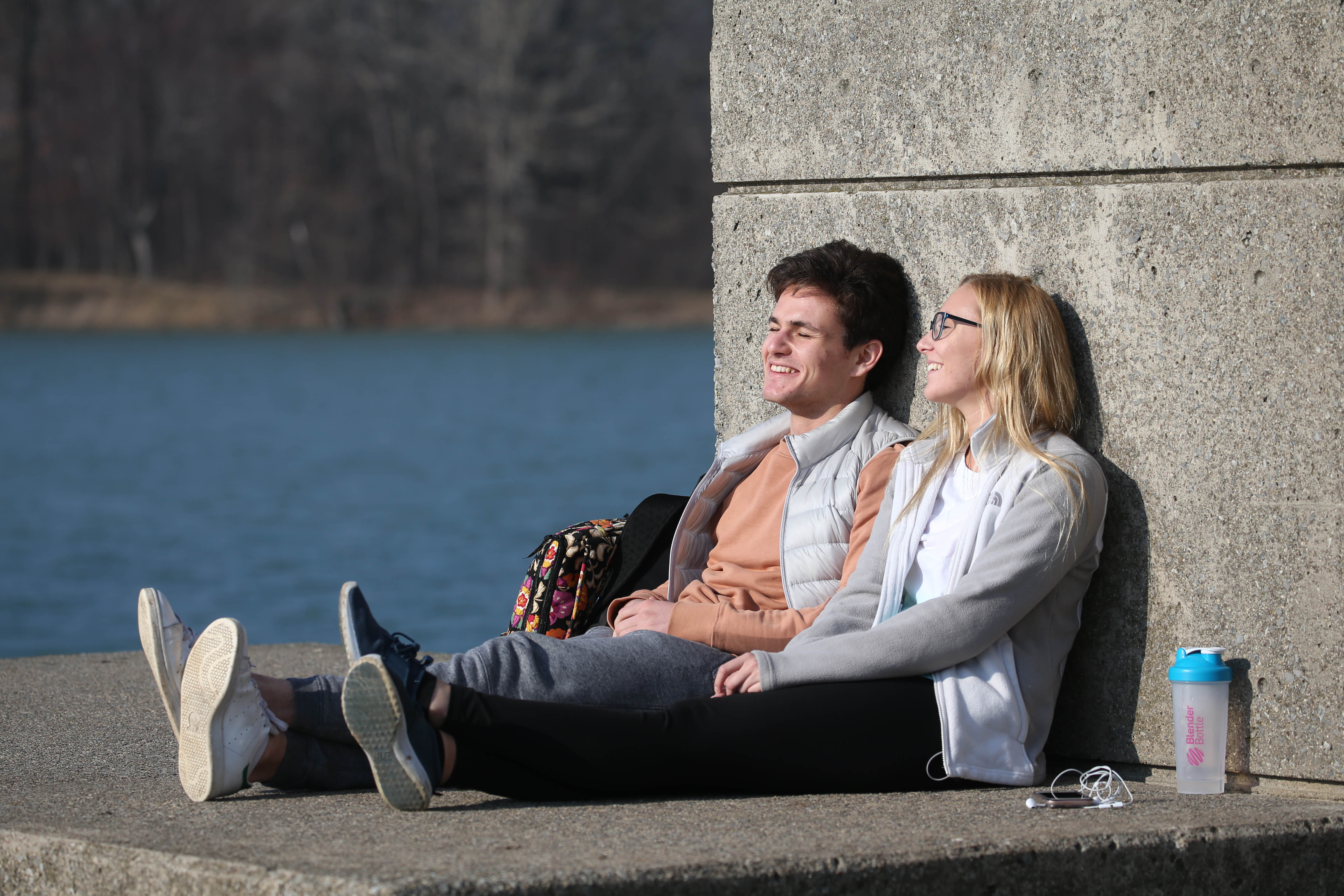 With unusually warm temperatures, people were getting outside and soaking in the sun and warmth on Thursday, Feb. 23, 2017. (Sharon Cantillon/Buffalo News)