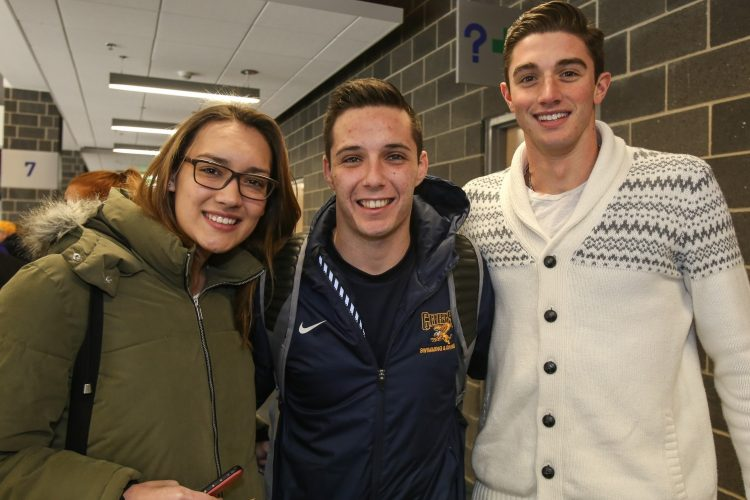 Smiles at Canisius vs. Niagara hockey in HarborCenter
