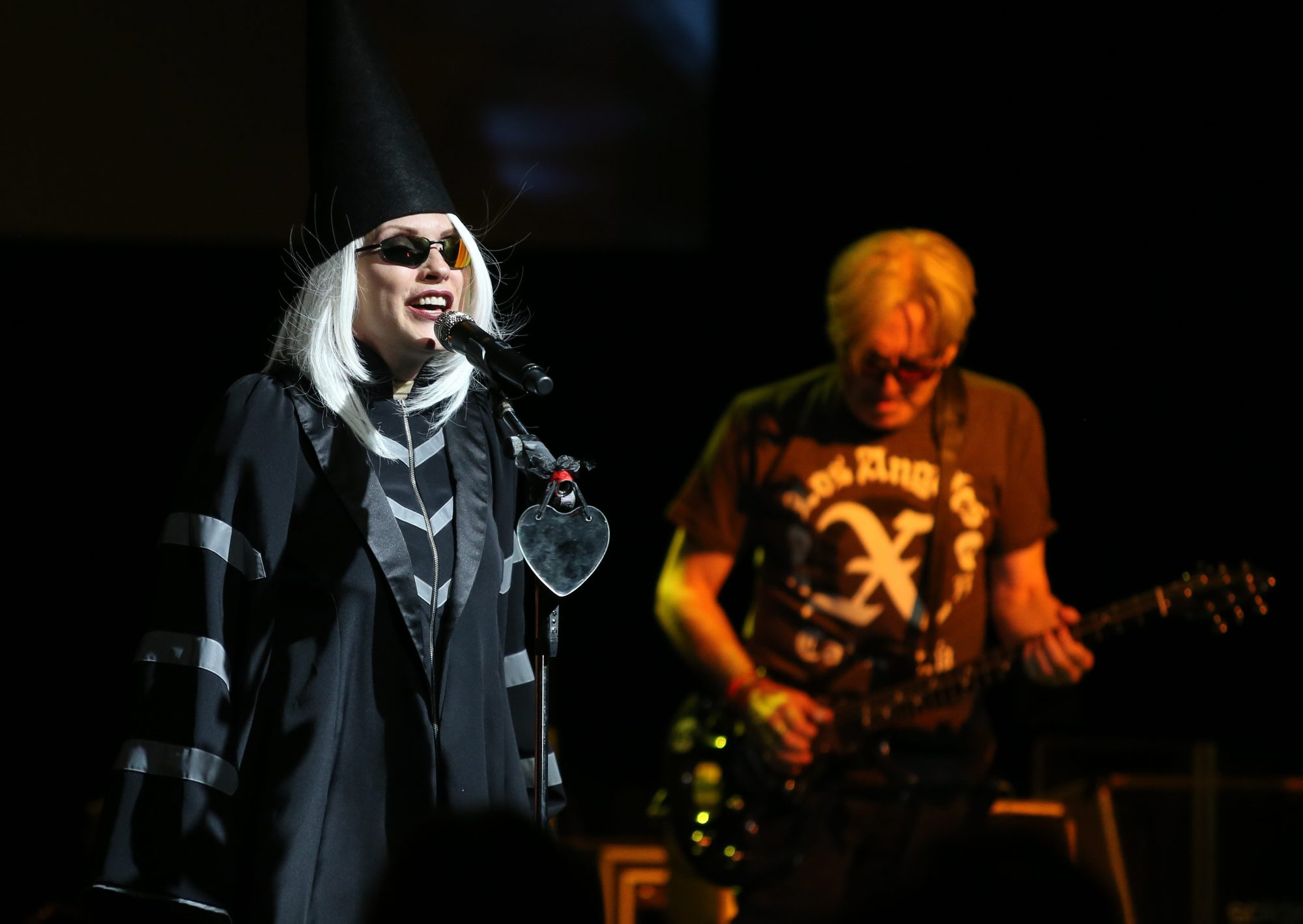 Deborah Harry and Blondie, pictured here in 2013 at the Rapids Theatre, will return to the area for a show at Artpark. (Buffalo News file photo)