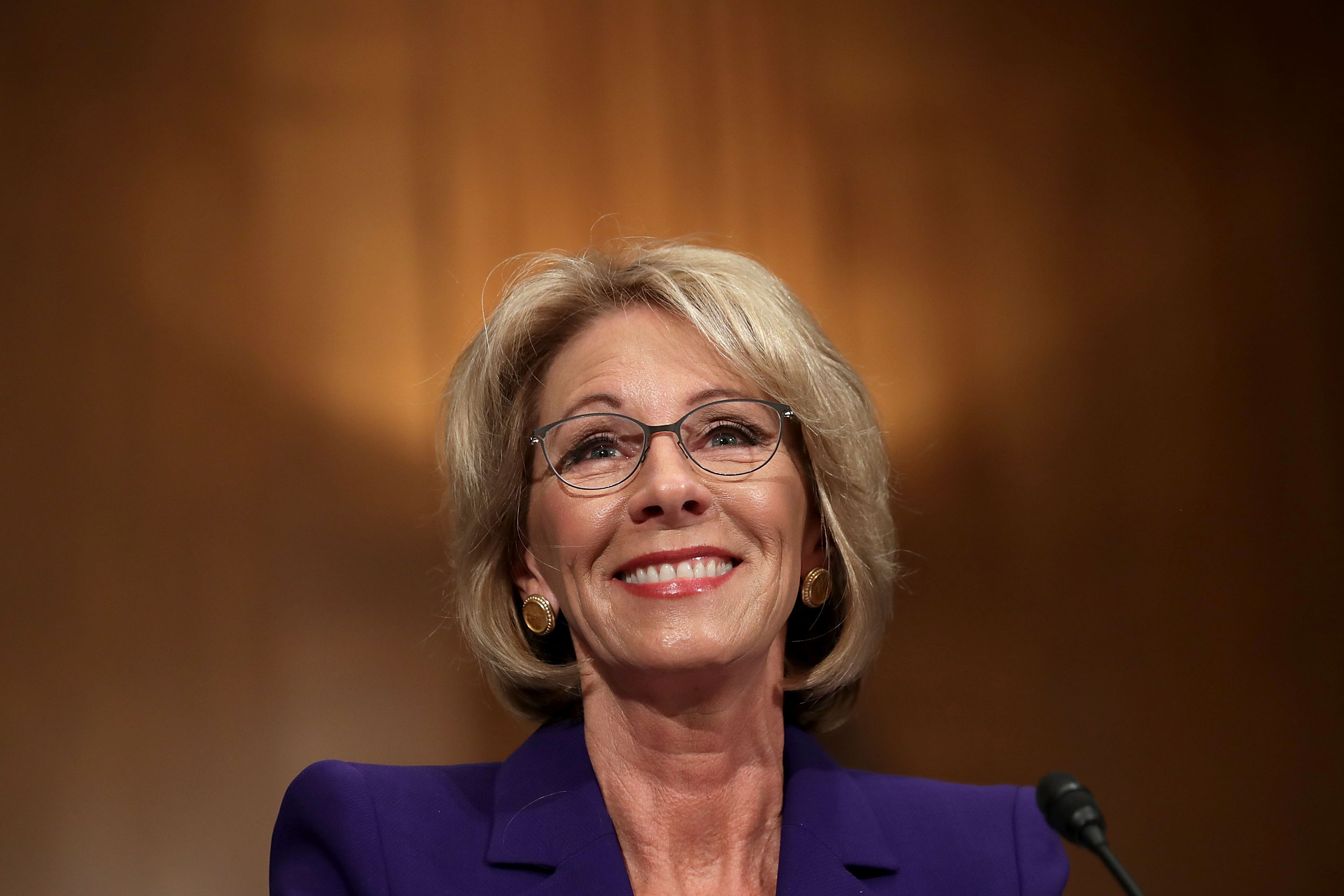 Betsy DeVos is President Trump's new Secretary of Education. (Getty Images)