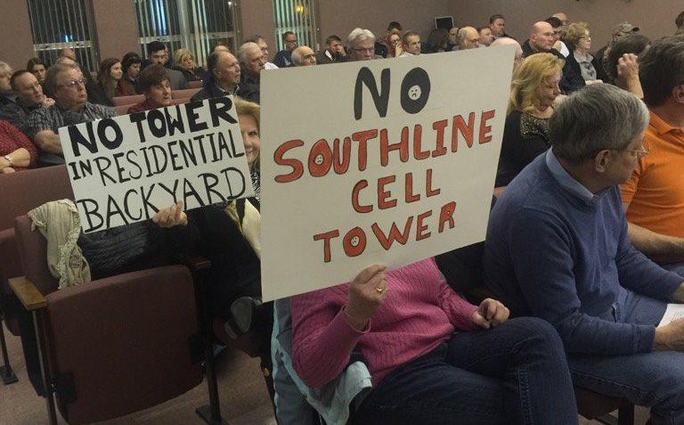 Cheektowaga residents at town board meeting oppose cell phone tower on South Line Little League property. (Jane Kwiatkowski Radlich/Buffalo News)