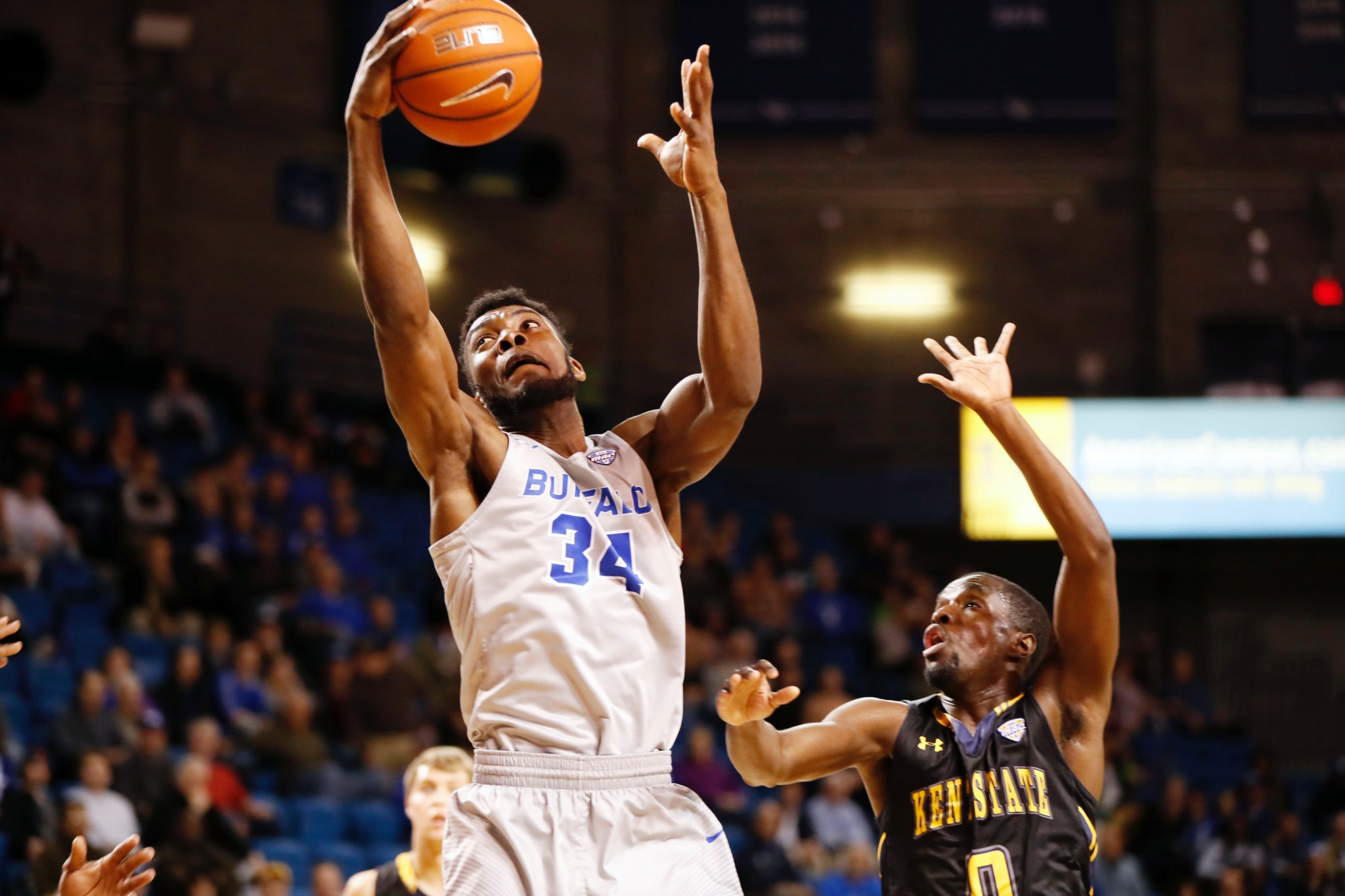 Ikenna Smart and UB will play at Syracuse next season. (Harry Scull Jr./Buffalo News)