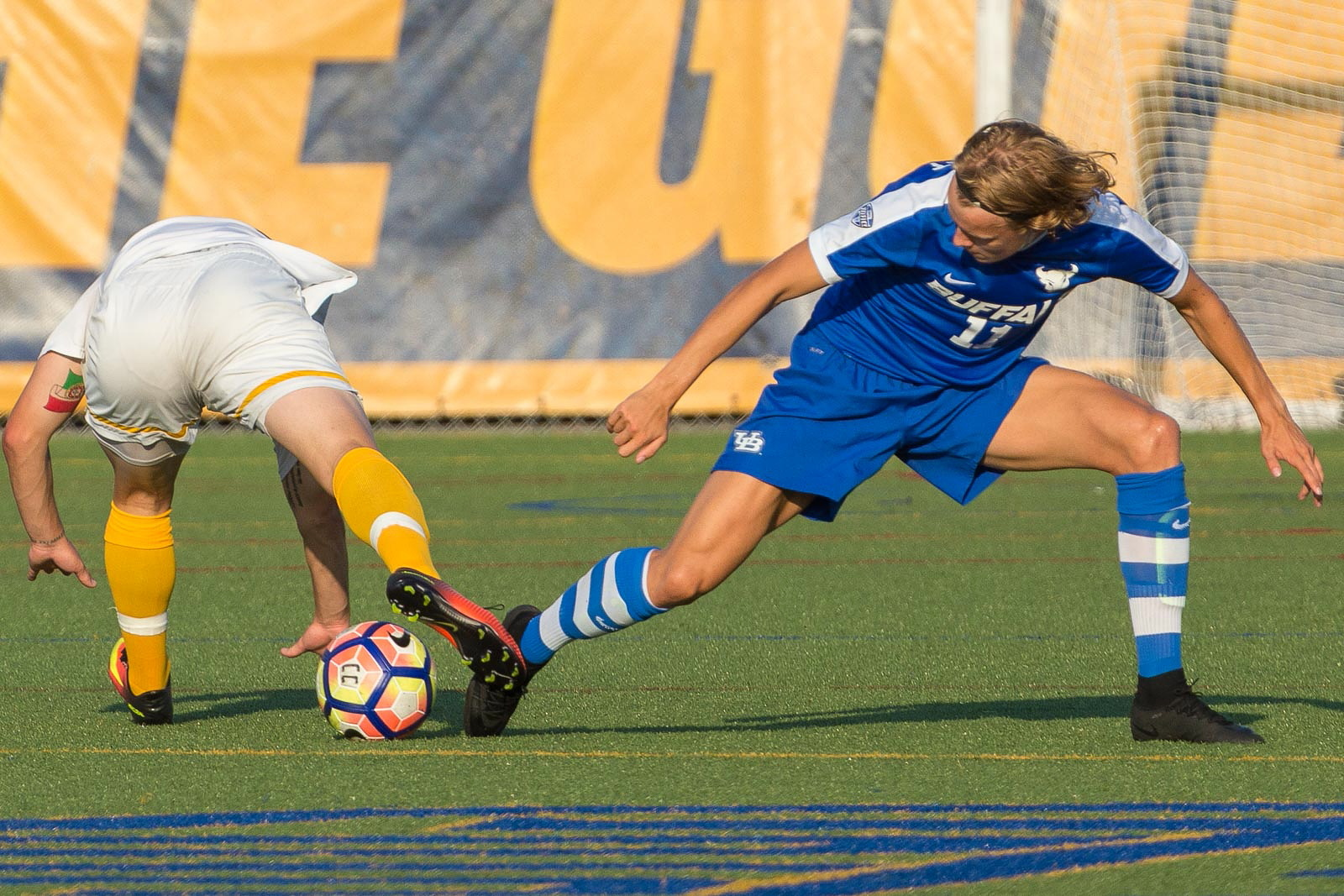 University at Buffalo midfielder/forward Rikard Lindqvist, right, has transferred to Northern Kentucky. (Don Nieman/Special to The News)