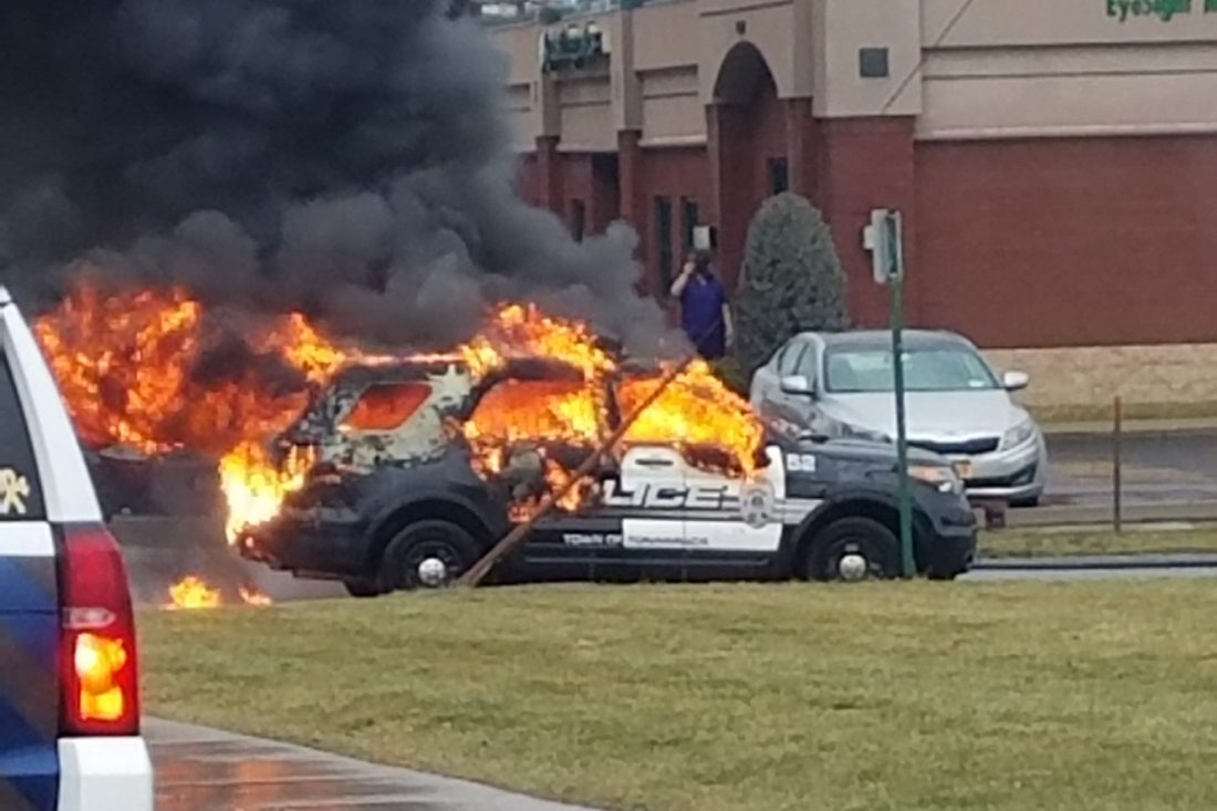 Town of Tonawanda police cruiser erupted in flames on Jan. 12