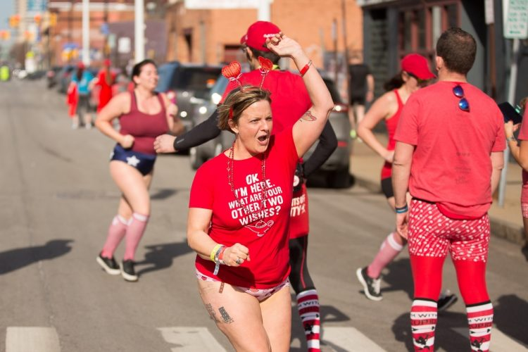 Smiles at Cupid's Undie Run at Big Ditch Brewery
