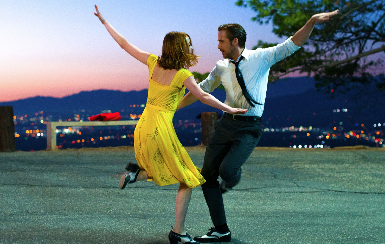 Jeff Simon sees Emma Stone, left, as a viable Oscar winner, but he does not think Gosling should pull in the hardware. (Lionsgate)
