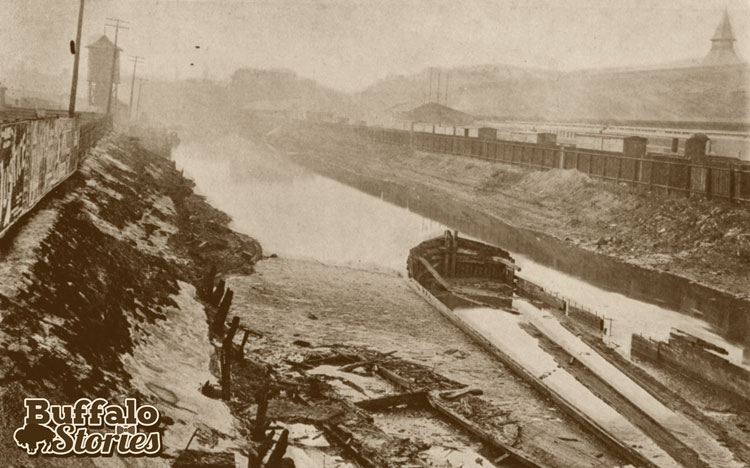 The Hamburg Canal, which was built to divert traffic from the busy Erie Canal. (Buffalo Stories archives)