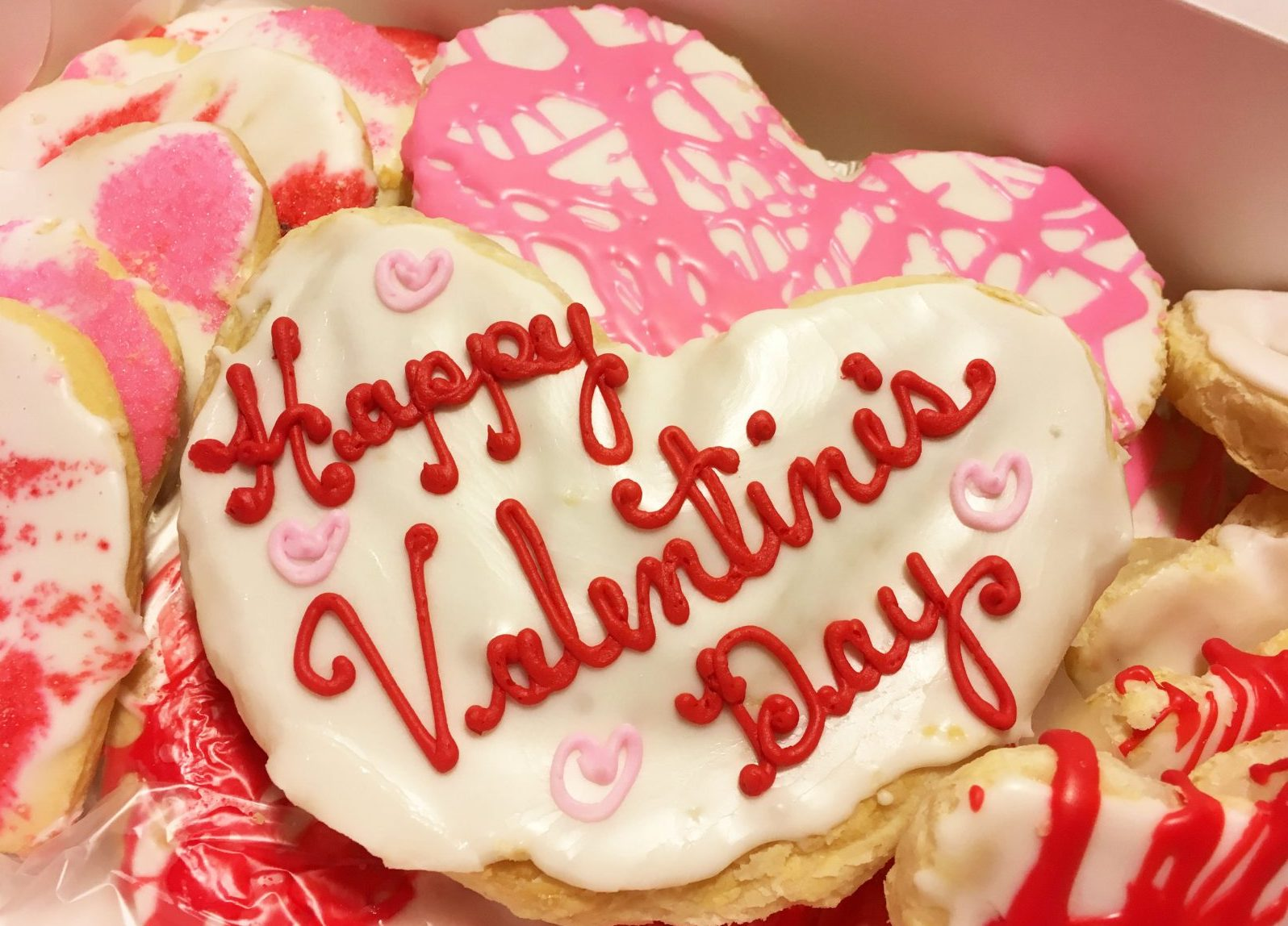 Eileen's Centerview Bakery makes both large and mini pastry hearts all year long. (Photo by Emeri Krawczyk)