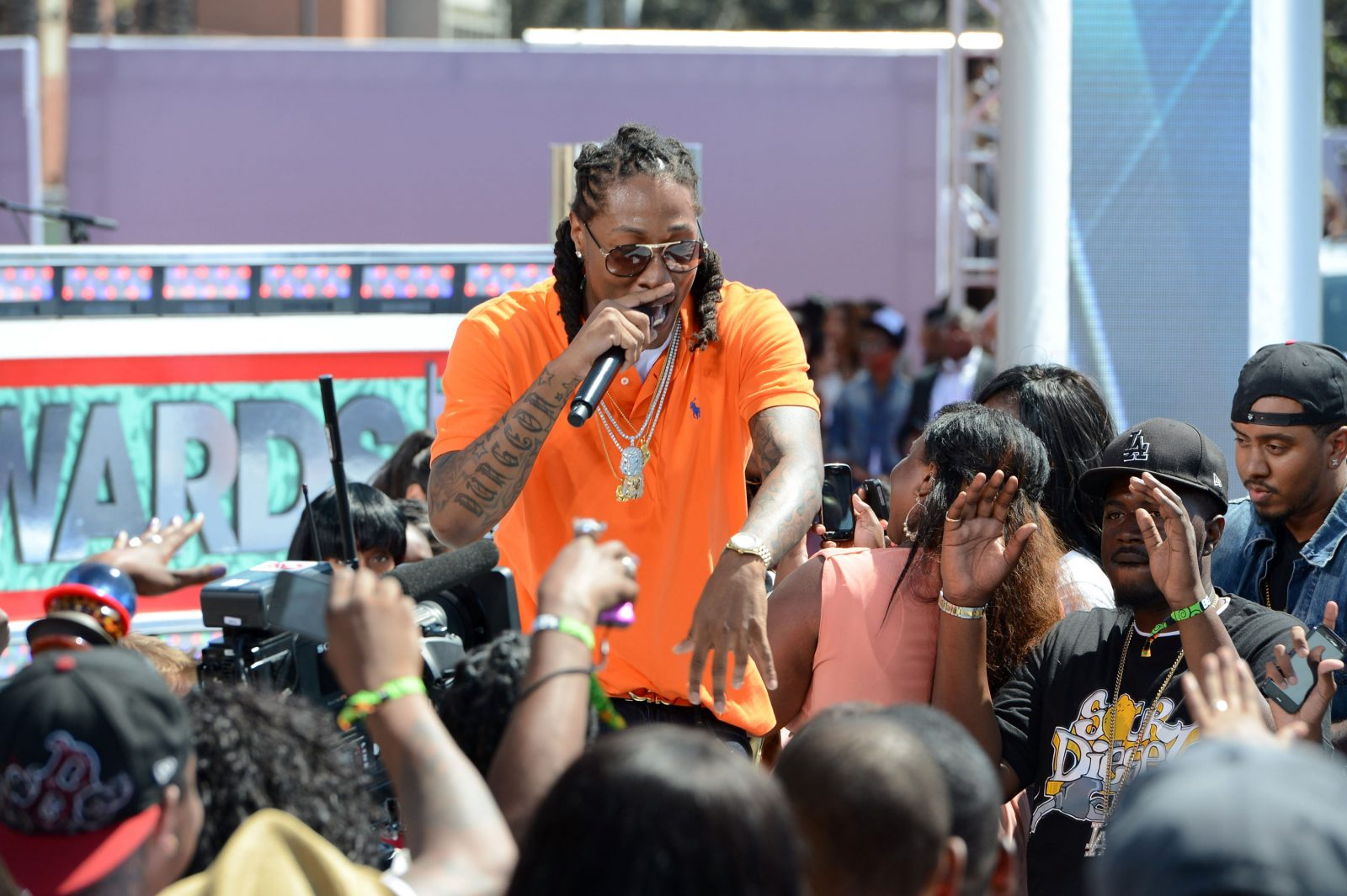 Future, here at the 2012 BET Awards, will play Darien Lake May 24. (Earl Gibson III/Getty Images For BET)
