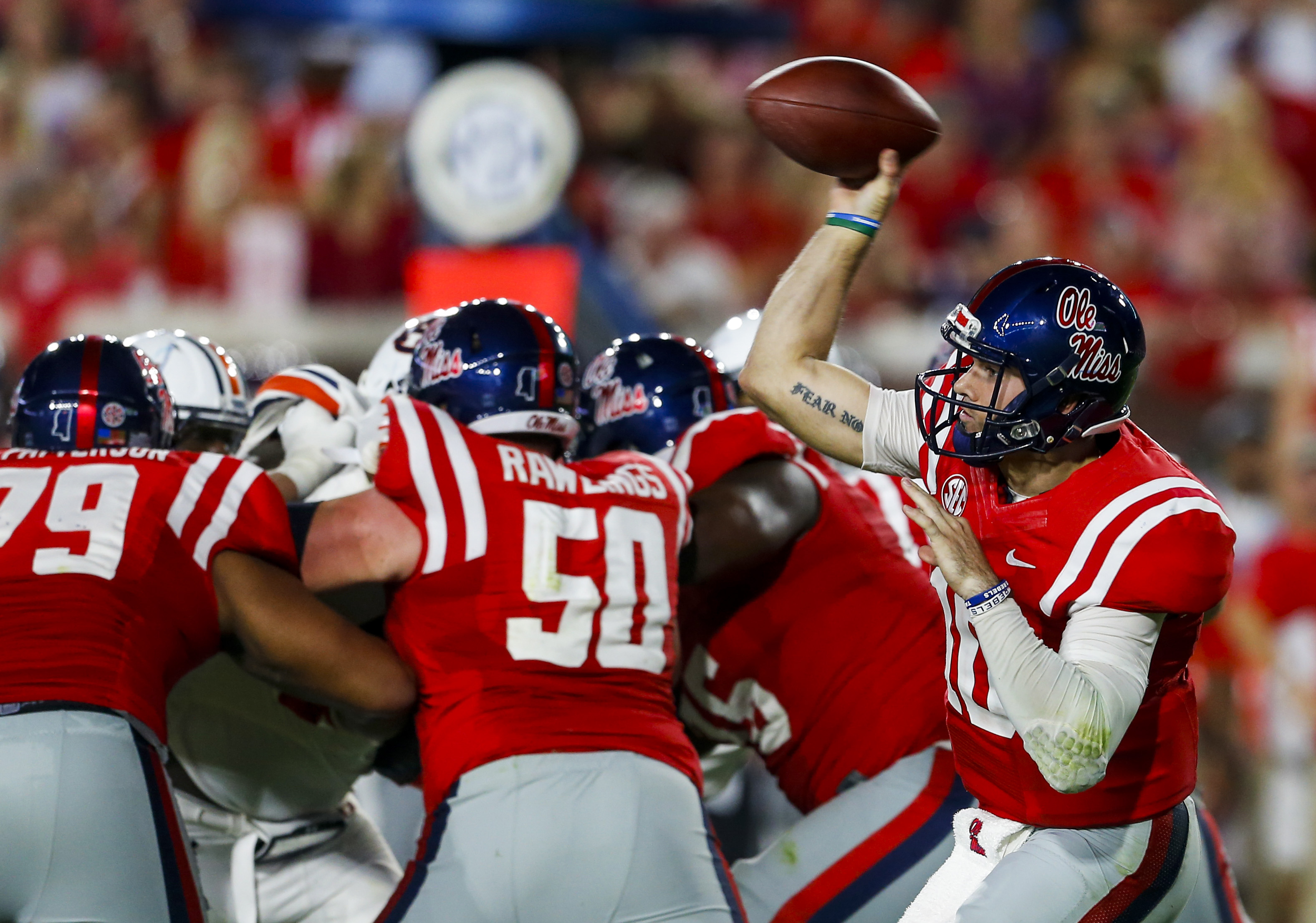 Ole Miss QB Chad Kelly had his season cut short by a knee injury. (Getty Images)