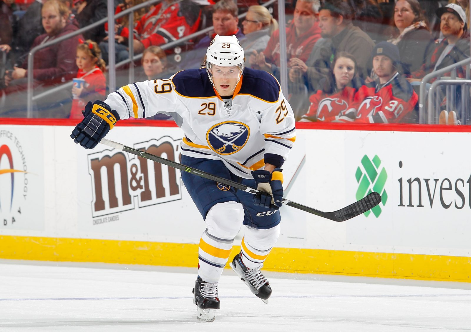 Dan Bylsma says Jake McCabe was good but too aggressive in his return. (Getty Images)