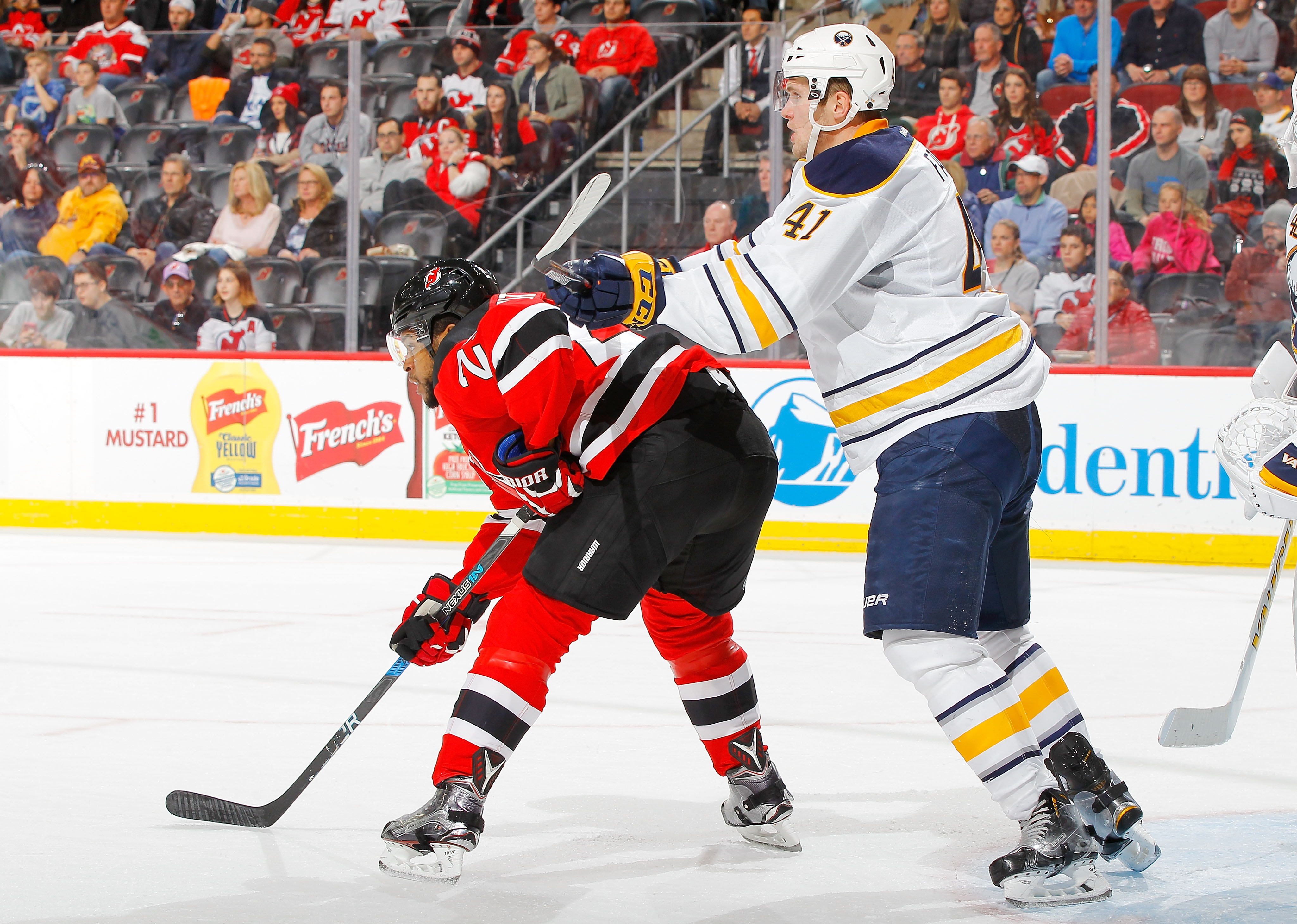 Defenseman Justin Falk has impressed the Sabres with his physical play. (Getty Images)