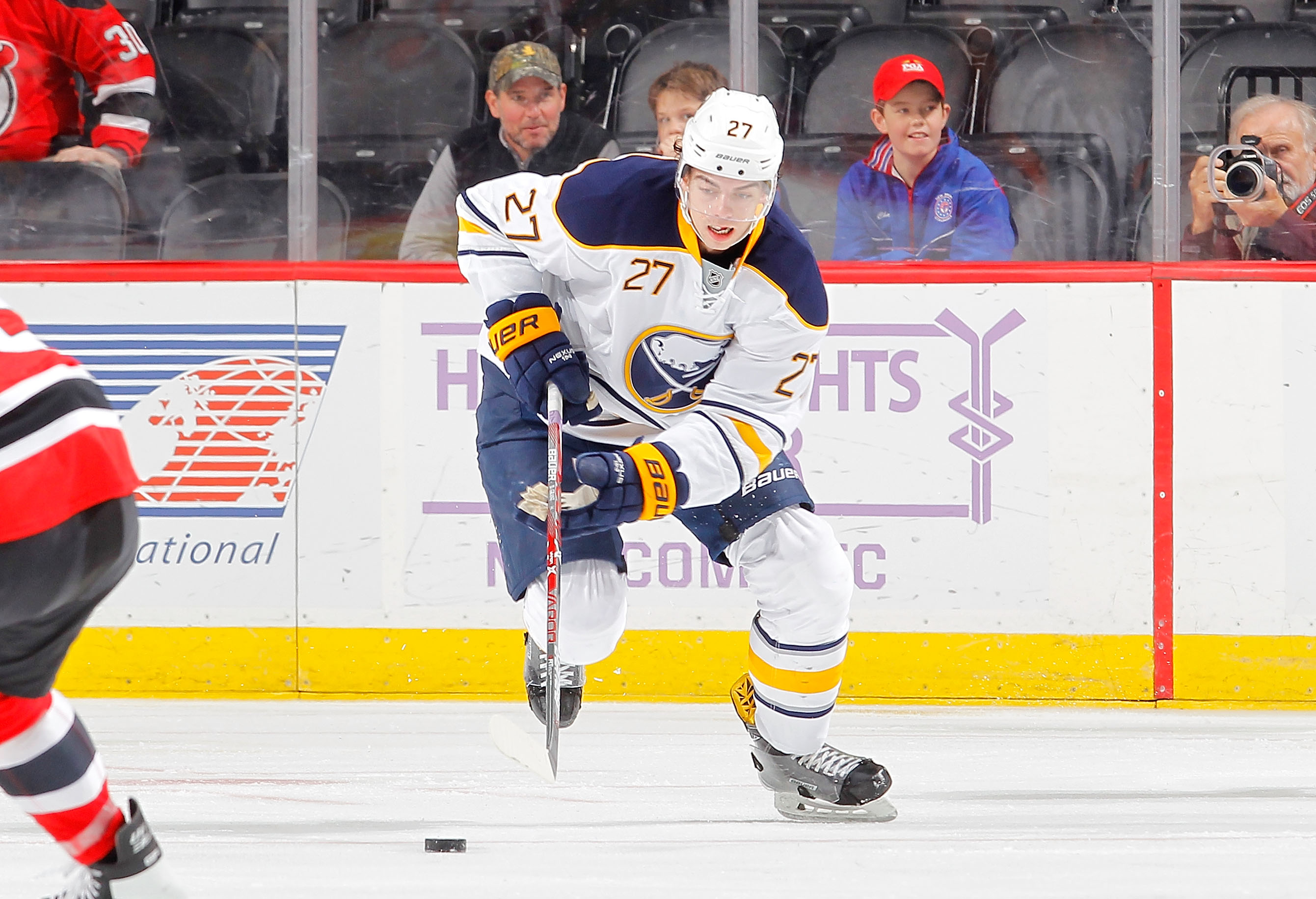 Derek Grant had three assists in 35 games with Buffalo before being lost on waivers. (Getty Images)