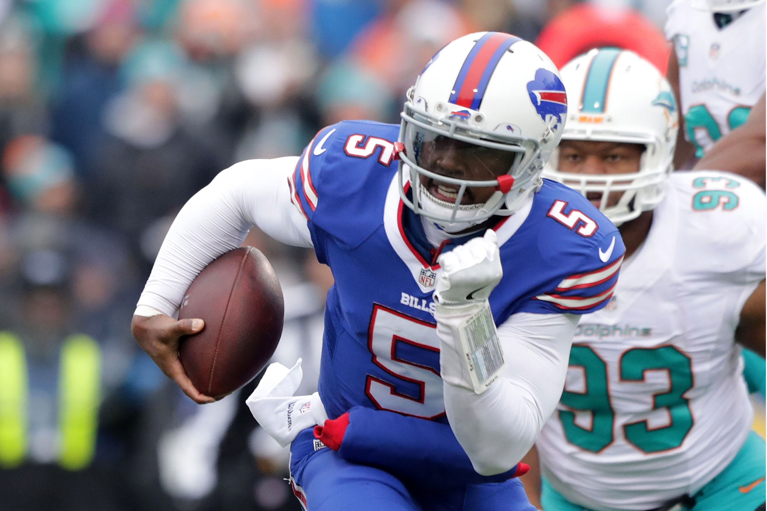 ack Tyrod Taylor has played some of his best football against the Dolphins. (Getty Images)
