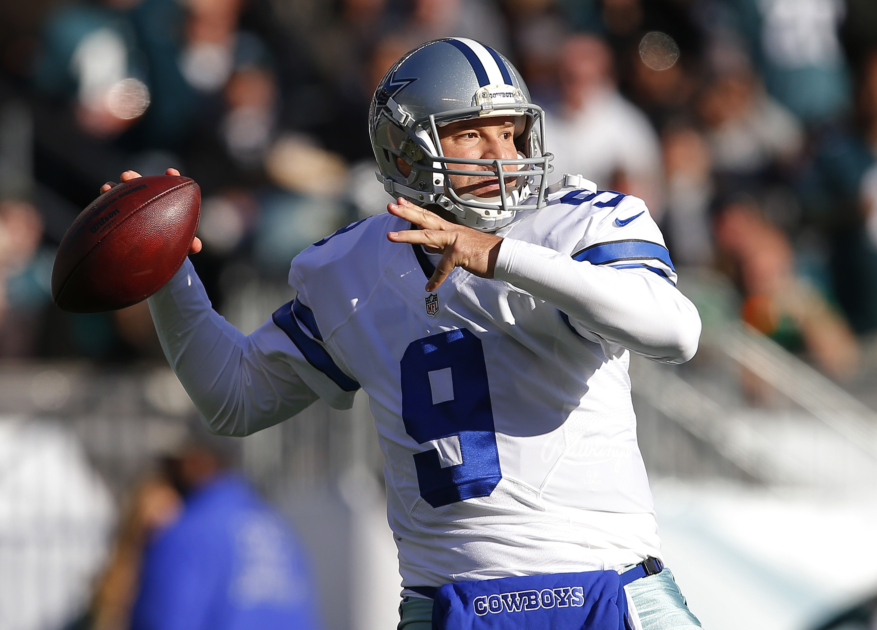 One of the biggest questions in the NFL this offseason is where Cowboys quarterback Tony Romo will land. (Getty Images)