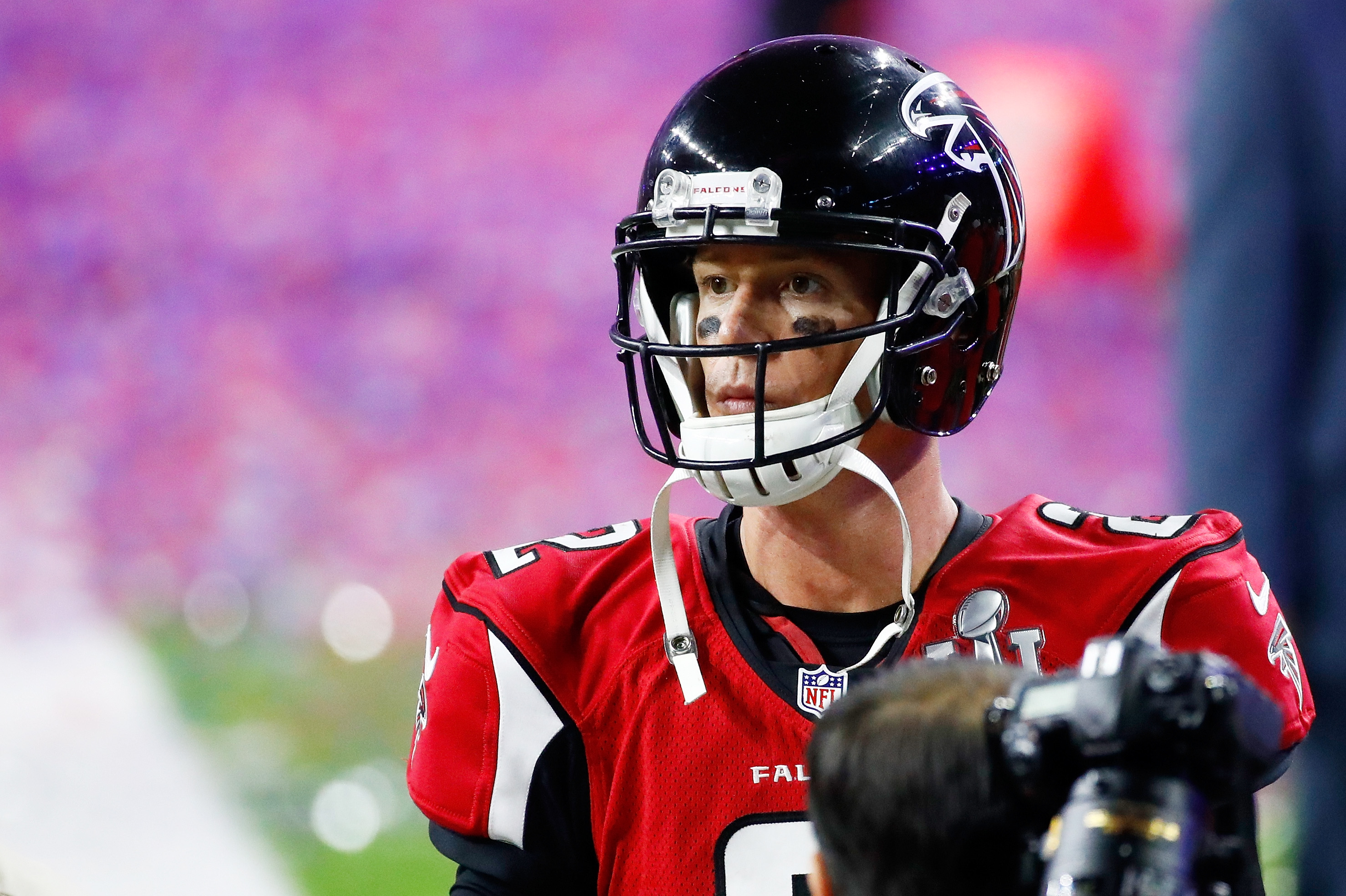 Matt Ryan of the Atlanta Falcons walks off the field after losing Super Bowl LI. (Getty Images)