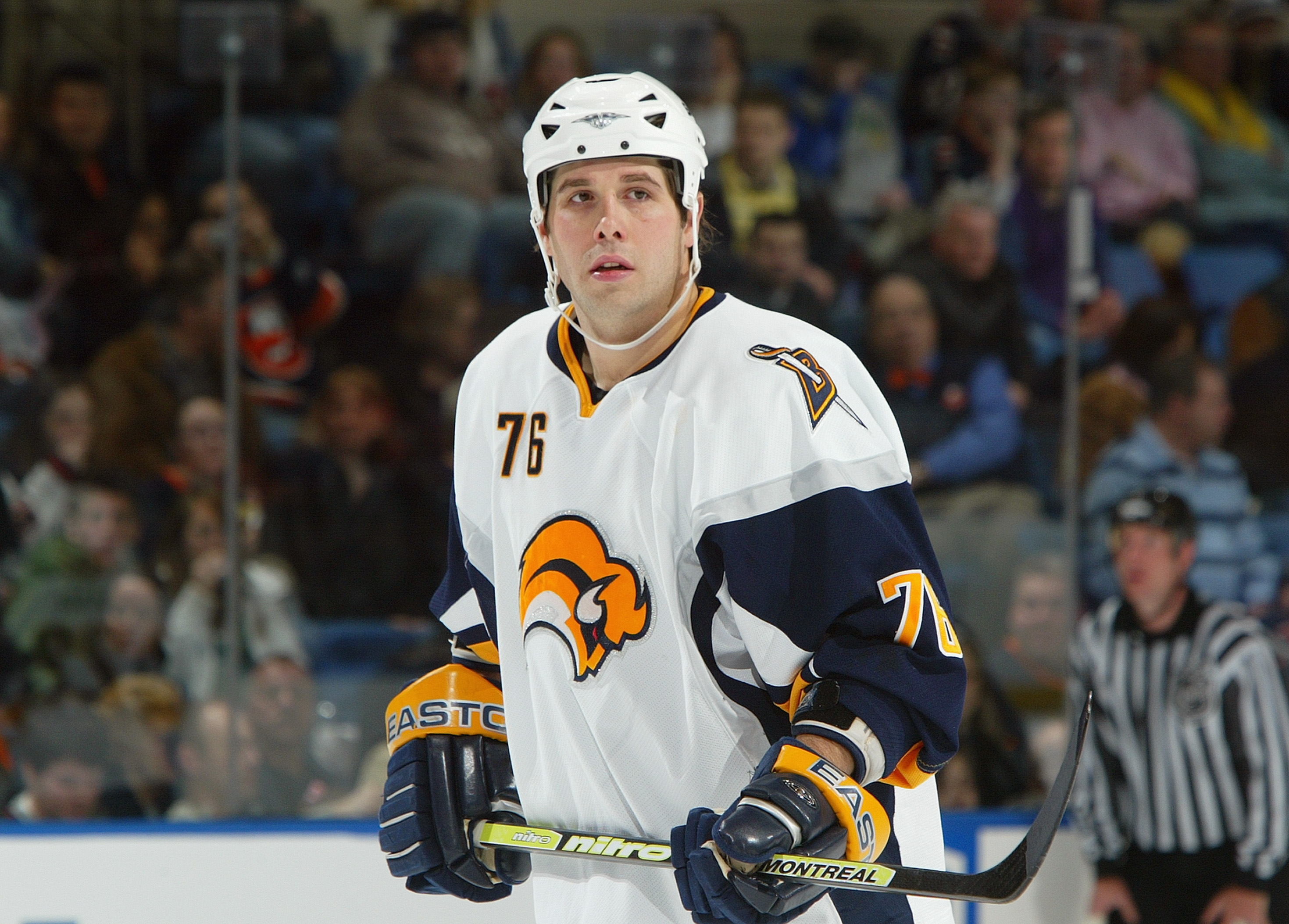 Andrew Peters played for the Sabres from 2003-2009. (Getty Images)