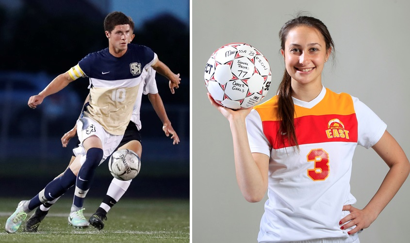 Sweet Home's Noah Keem, left, and Williamsville East's Marissa Birzon have announced their college destinations. (Harry Scull Jr./Buffalo News file photos)