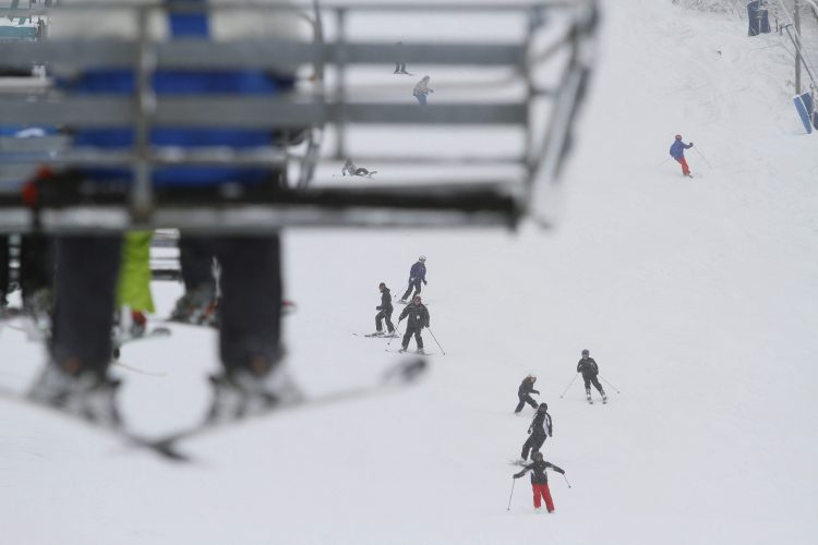Skiers on the slopes at Holiday Valley in Ellicottville. (News file photo)