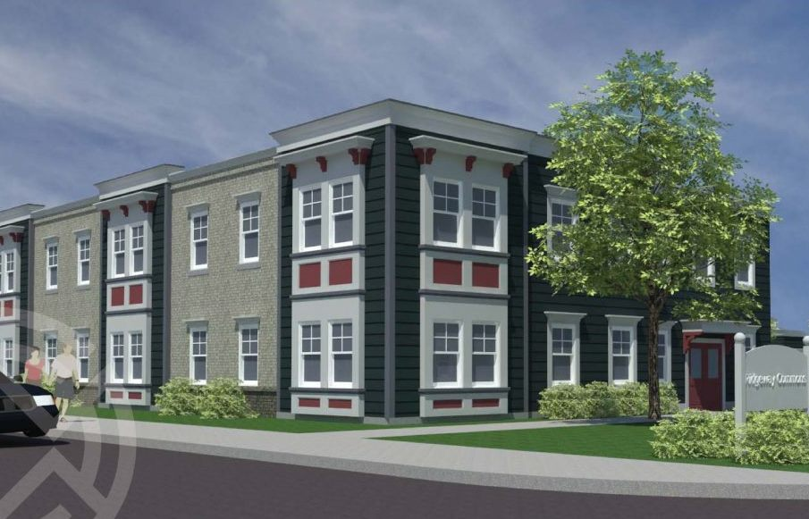 Architect's rendering of the Ridgeway Commons project.
