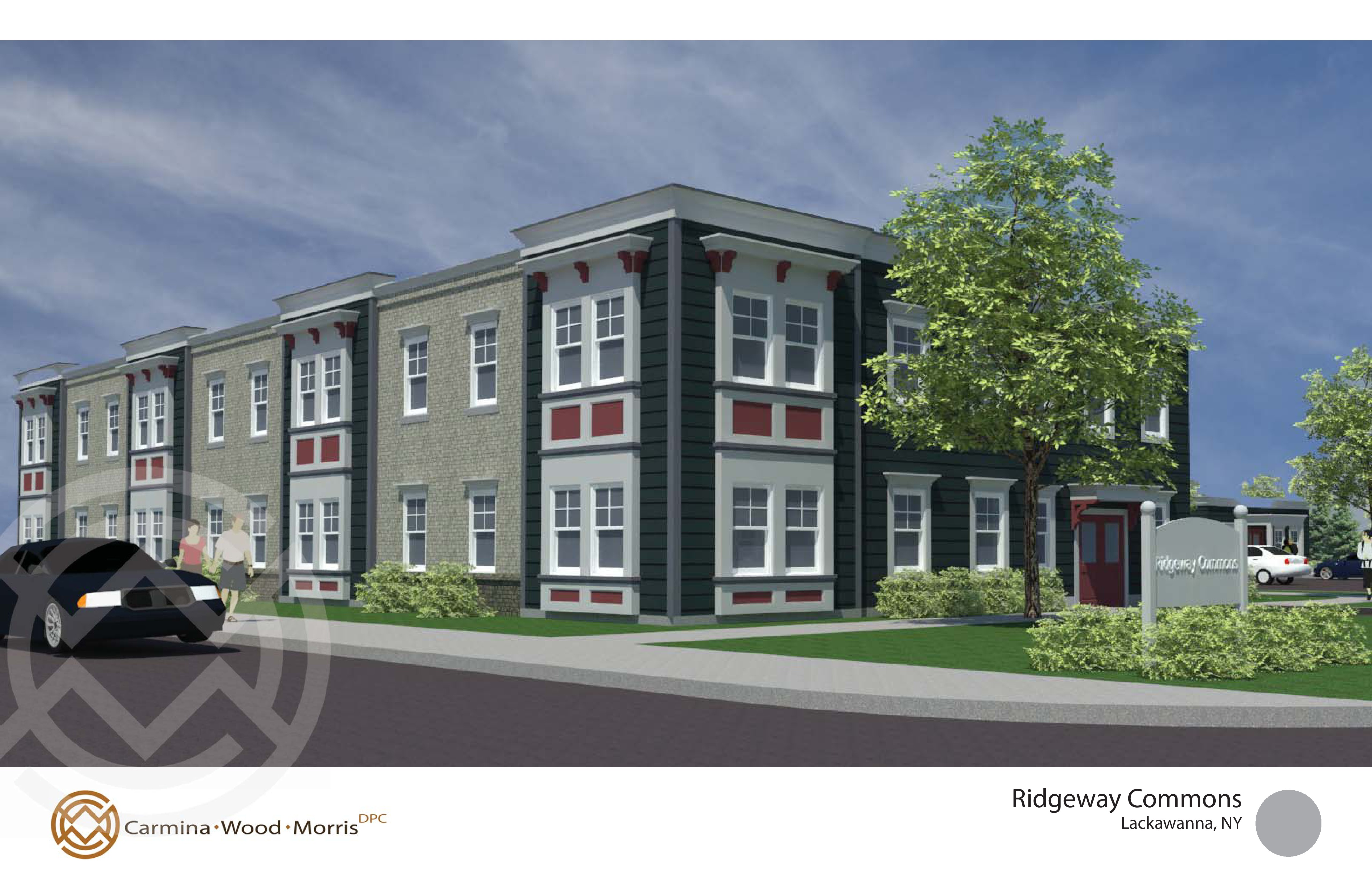A rendering of a proposed apartment complex for low-income residents that Community Services for the Developmentally Disabled wants to build in Lackawanna, N.Y. at the former Friendship House parcel.
