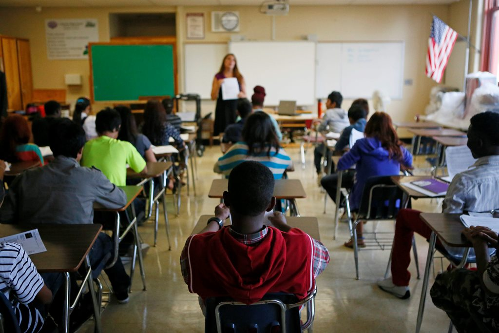 State education test results show increases in English and math.