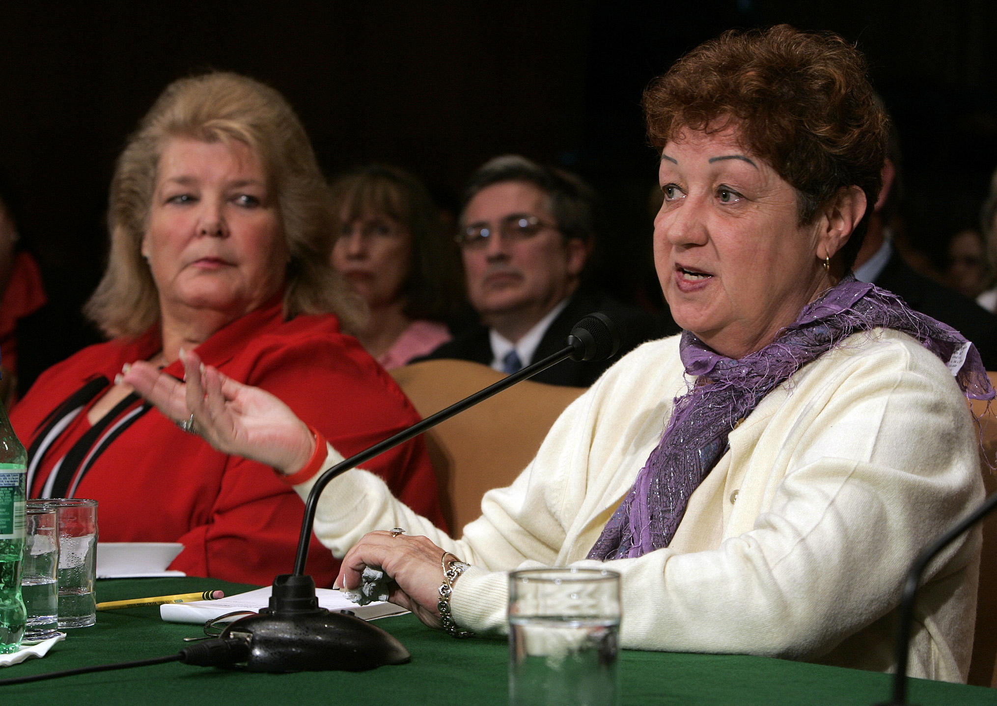 "Norma McCorvey, the ""Jane Roe"" in the case that legalized abortion in the United States, testifies before a Senate committee in Washington on June 23, 2005. McCorvey died in Katy, Texas, on Feb. 18, 2017. (Doug Mills/ New York Times)"