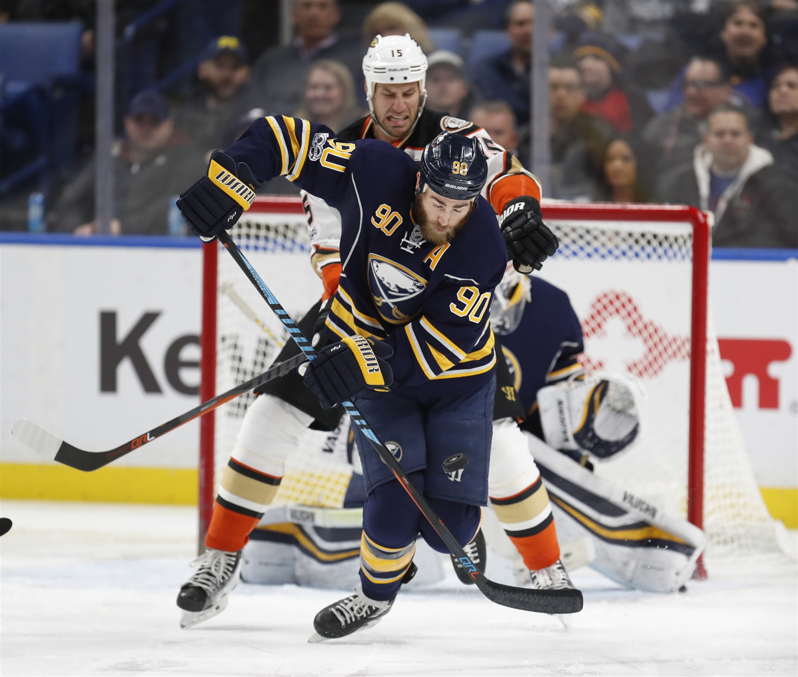 Ryan O'Reilly has 23 points in 18 victories and three points in 17 losses this season. (Harry Scull Jr./Buffalo News)