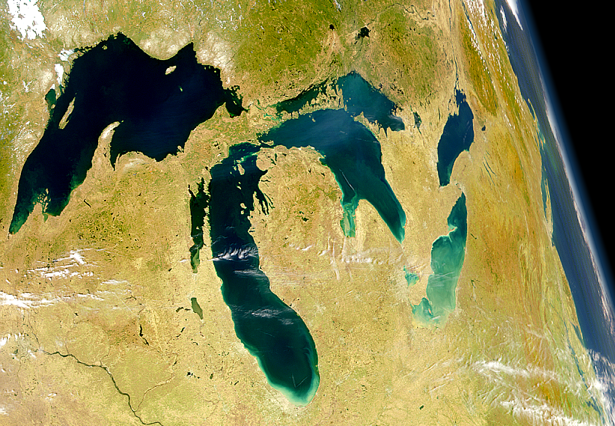 The Great Lakes as seen from space. (NASA)