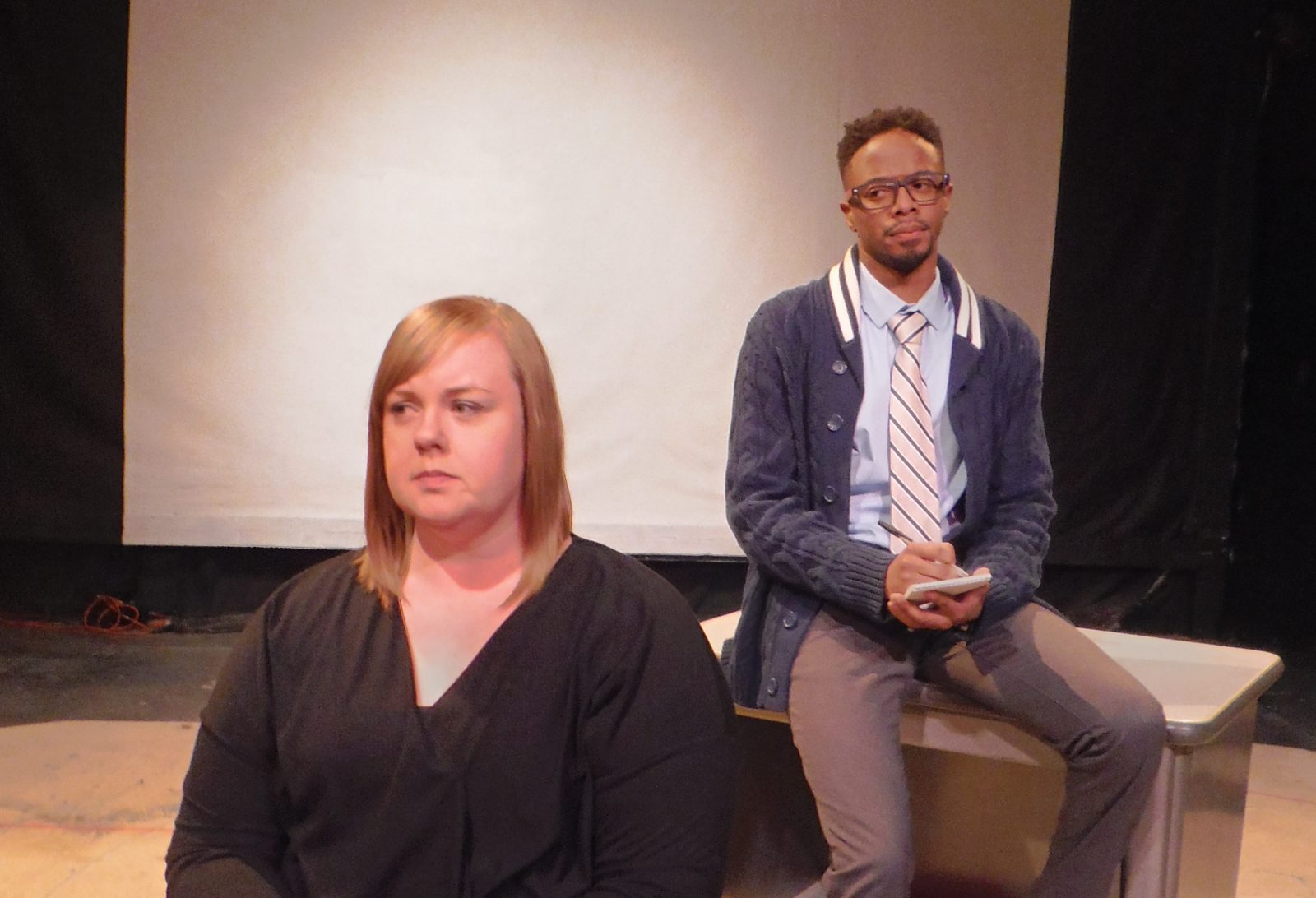 Brittany Germano and  Brian Brown star in 'Stop Kiss' at Subversive Theatre.