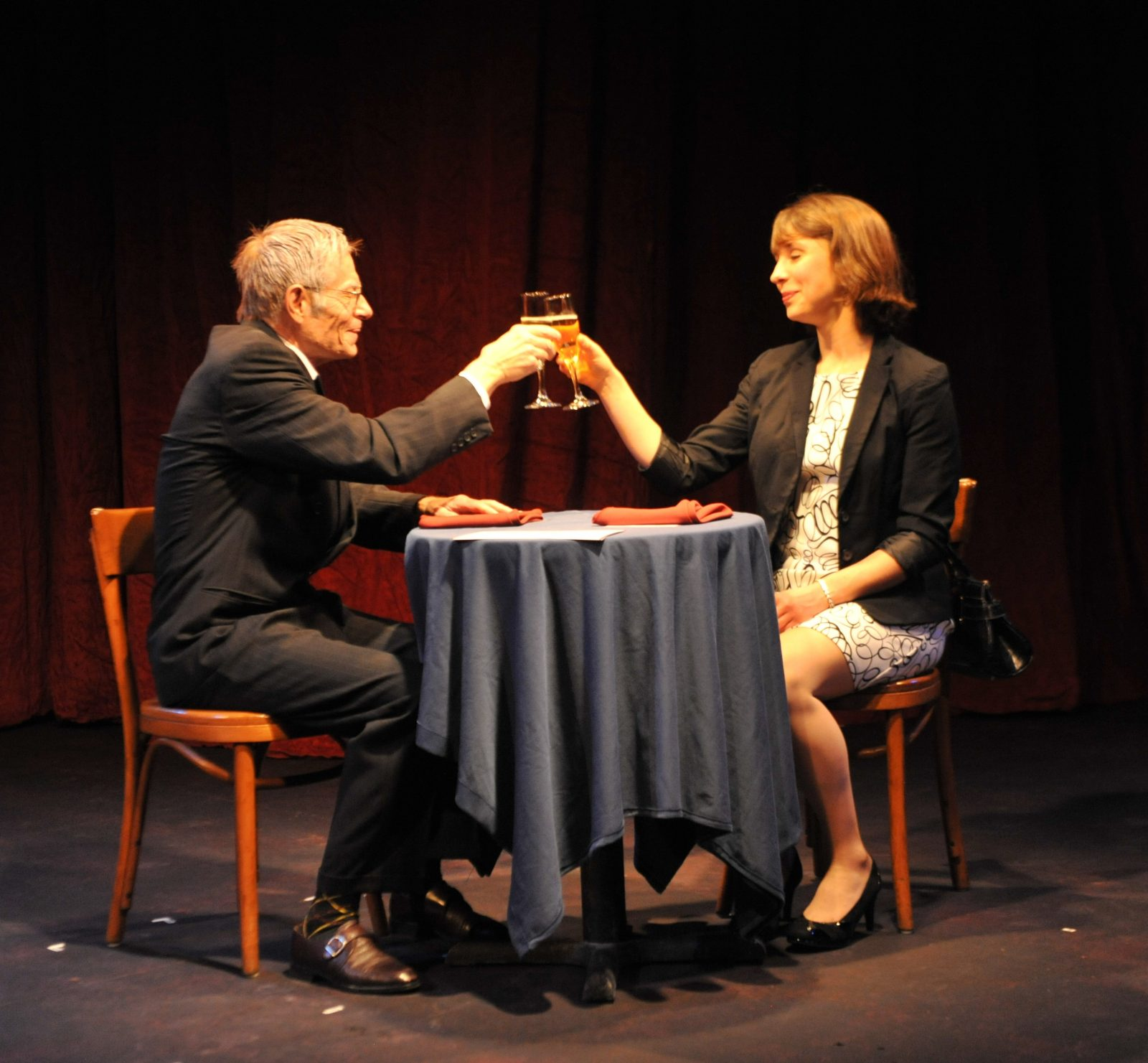 "Tom Makar and Bonnie Jean Taylor star in Jewish Repertory Theatre's production of Amy Herzog's play ""After the Revolution."""