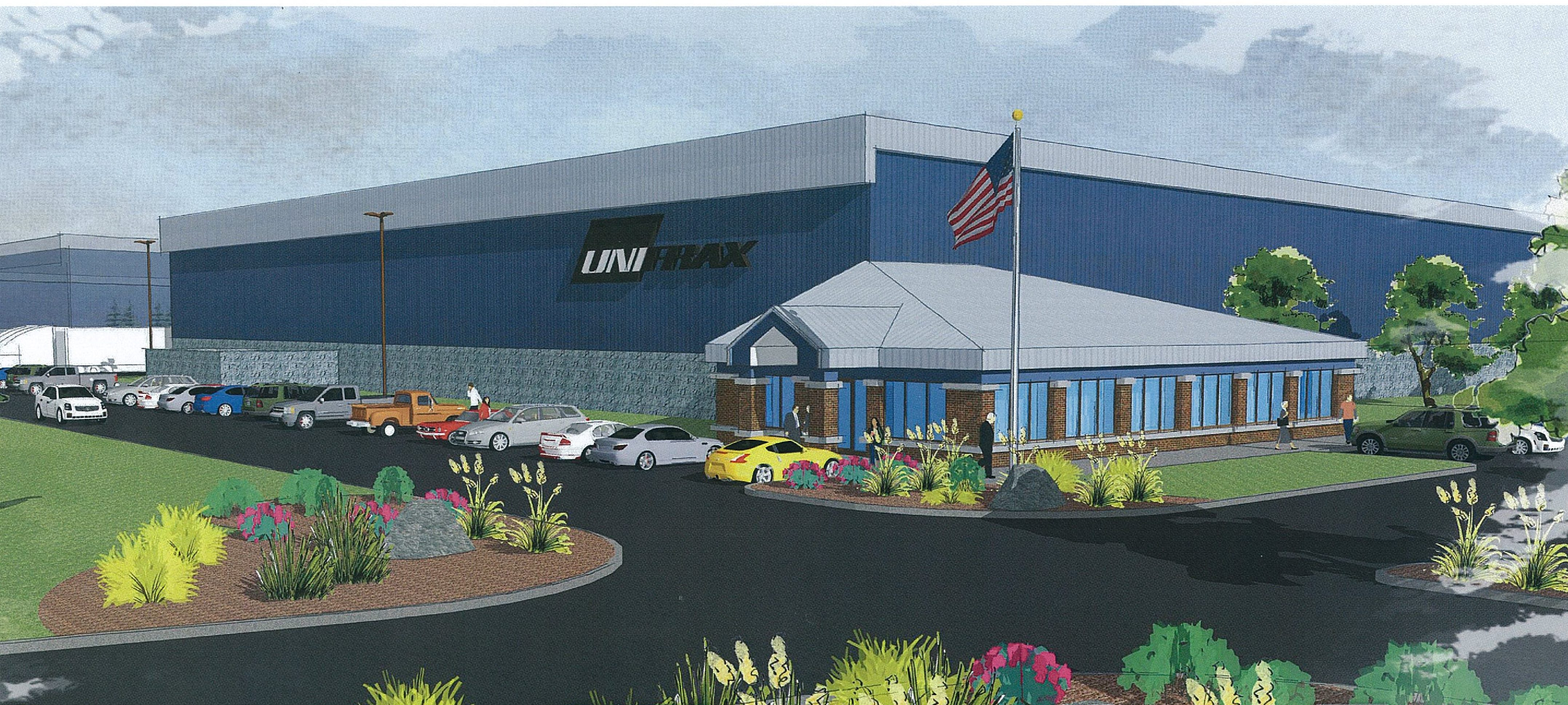 This is a rendering of an $18 million manufacturing facility Unifrax Corp. is planning to build in the Town of Tonawanda. The company will ask the town Planning Board on Feb. 1, 2017 for a preliminary site plan review on its proposed 83,000-square-foot building.