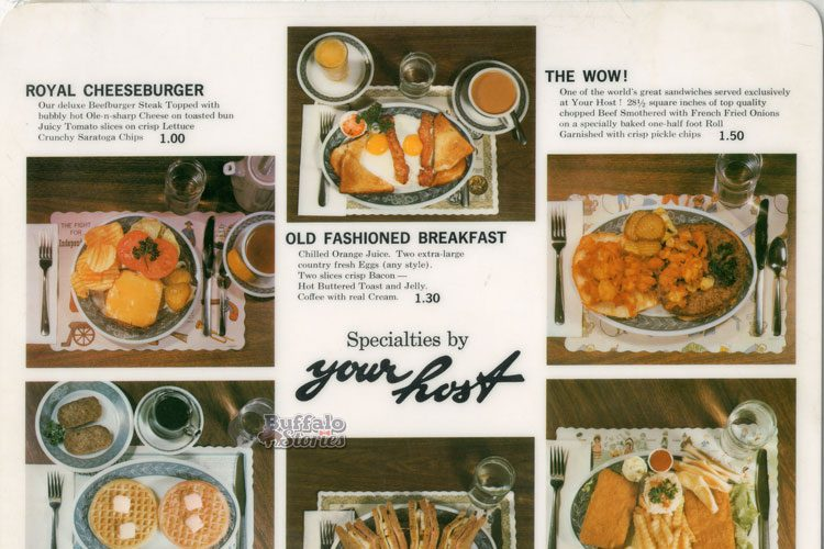 Buffalo in the '60s: Ordering off the Your Host menu