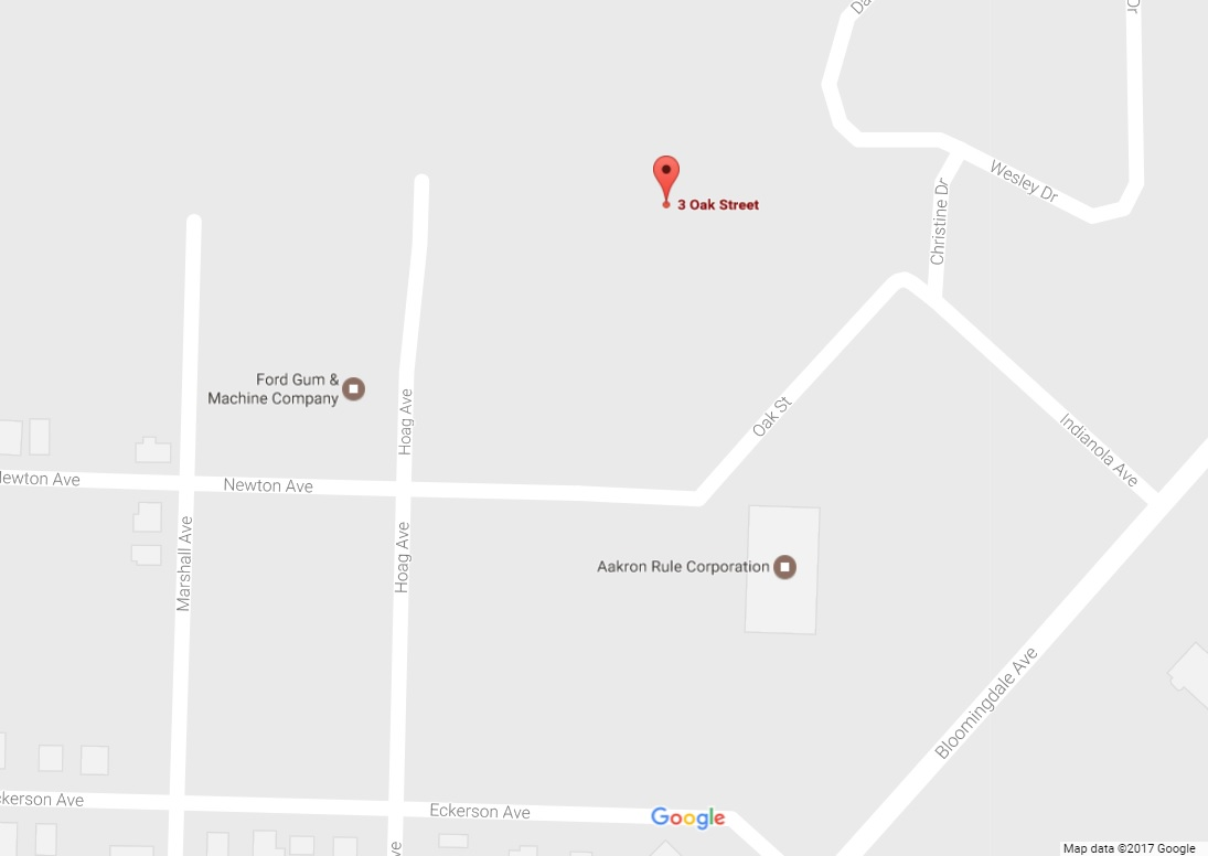 Aakron Rule has sought tax breaks to expand its warehouse and manufacturing building on Oak Street in Akron. (Google Maps)