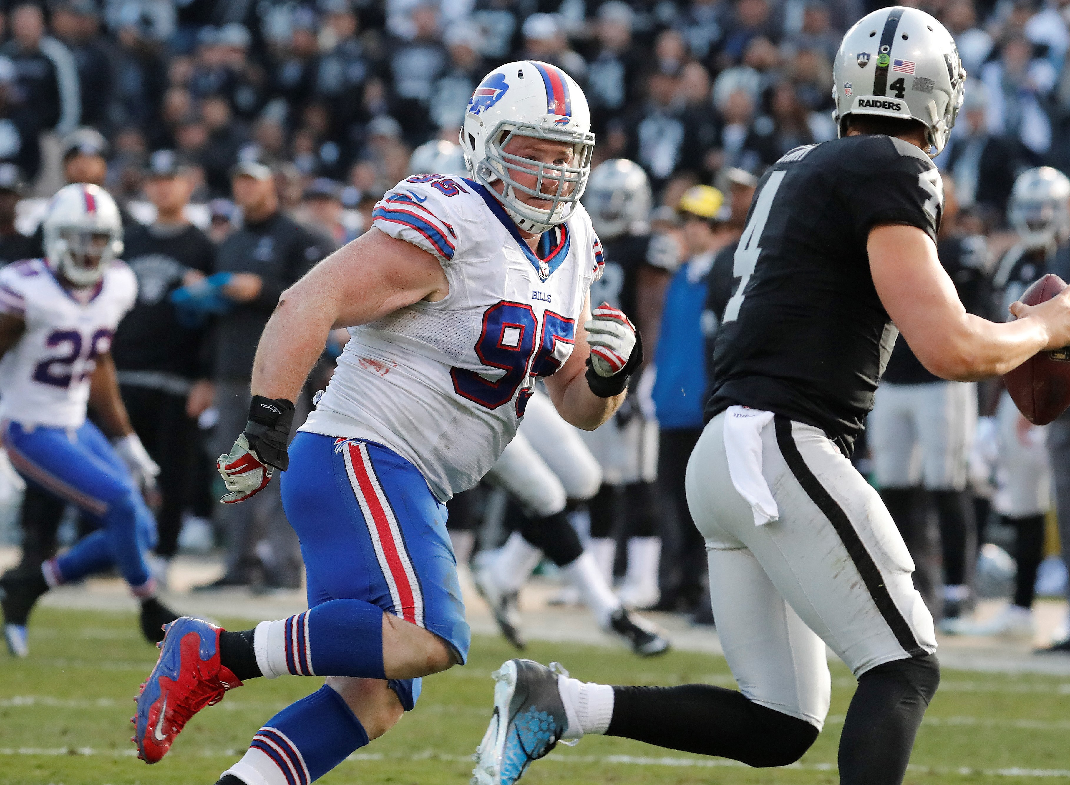 Kyle Williams and the Bills will be looking for revenge after last year's loss to the Raiders. (Harry Scull Jr./Buffalo News)