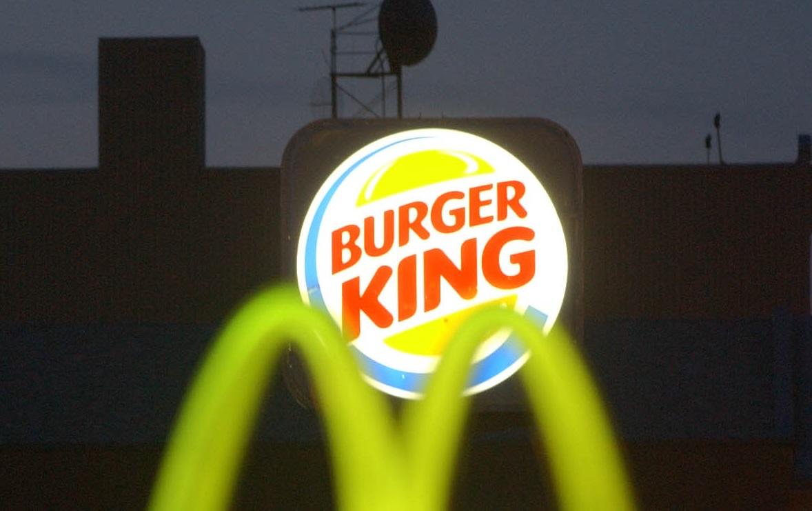 The Burger King and McDonalds signs at Main and Utica streets. (Buffalo News file photo)