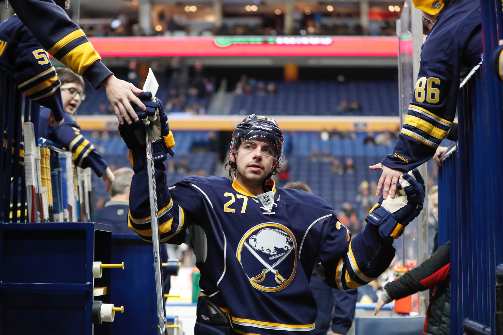 Derek Grant returned to the Sabres lineup Thursday. (Harry Scull Jr./Buffalo News)