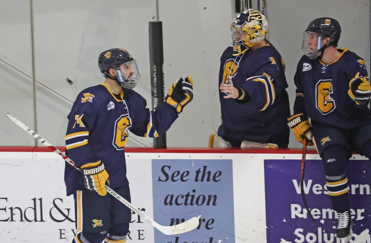 Felix Chamberland scored two goals in the second period for Canisius (Harry Scull Jr./Buffalo News)