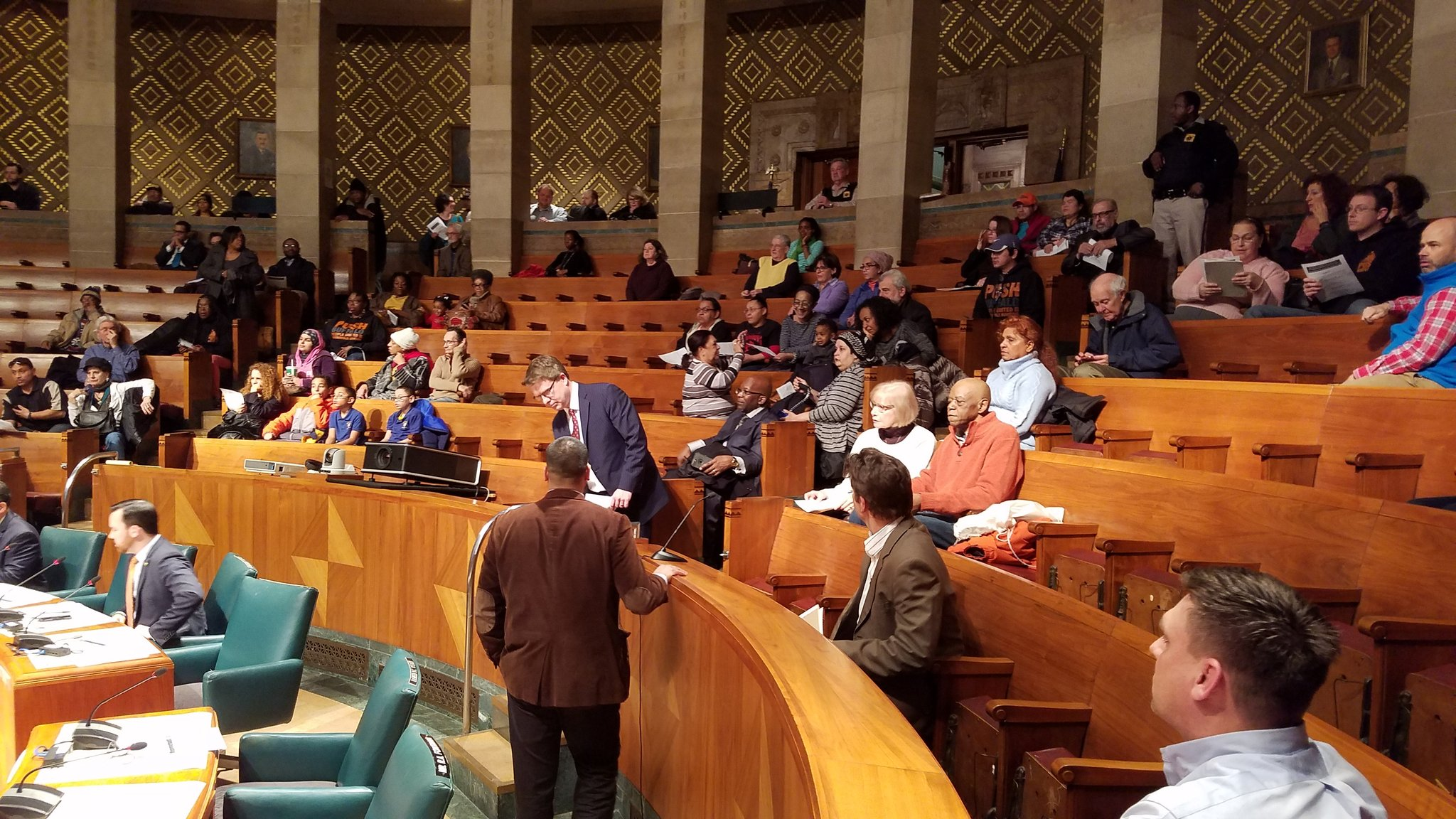 A large crowd came to the Common Council's public hearing on inclusionary zoning. (Harold McNeil/Buffalo News)