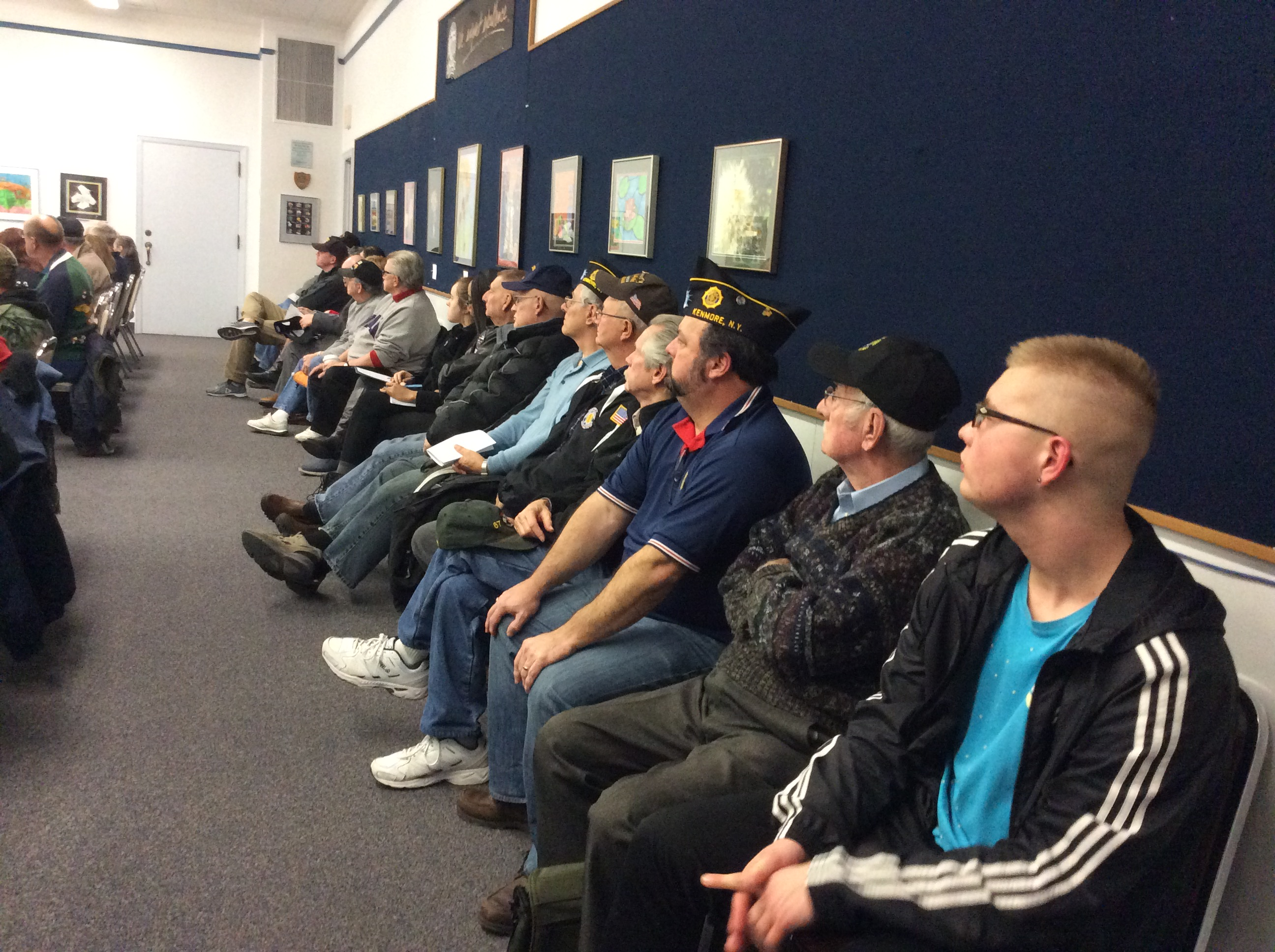 Veterans pack the Kenmore-Town of Tonawanda School Board meeting to await the outcome of the exemption vote.