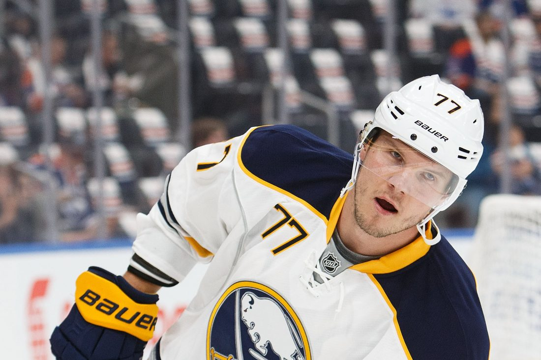 Dmitry Kulikov is not taking morning skates hoping that helps his back injury. (Getty Images)