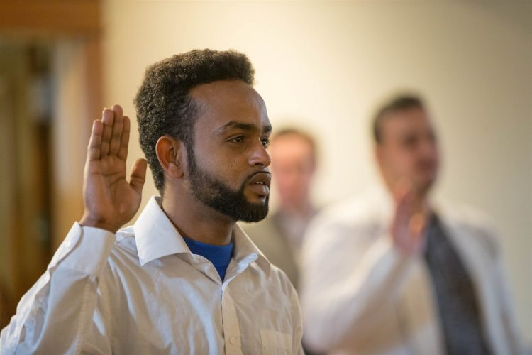 Twenty-six become U.S. citizens
